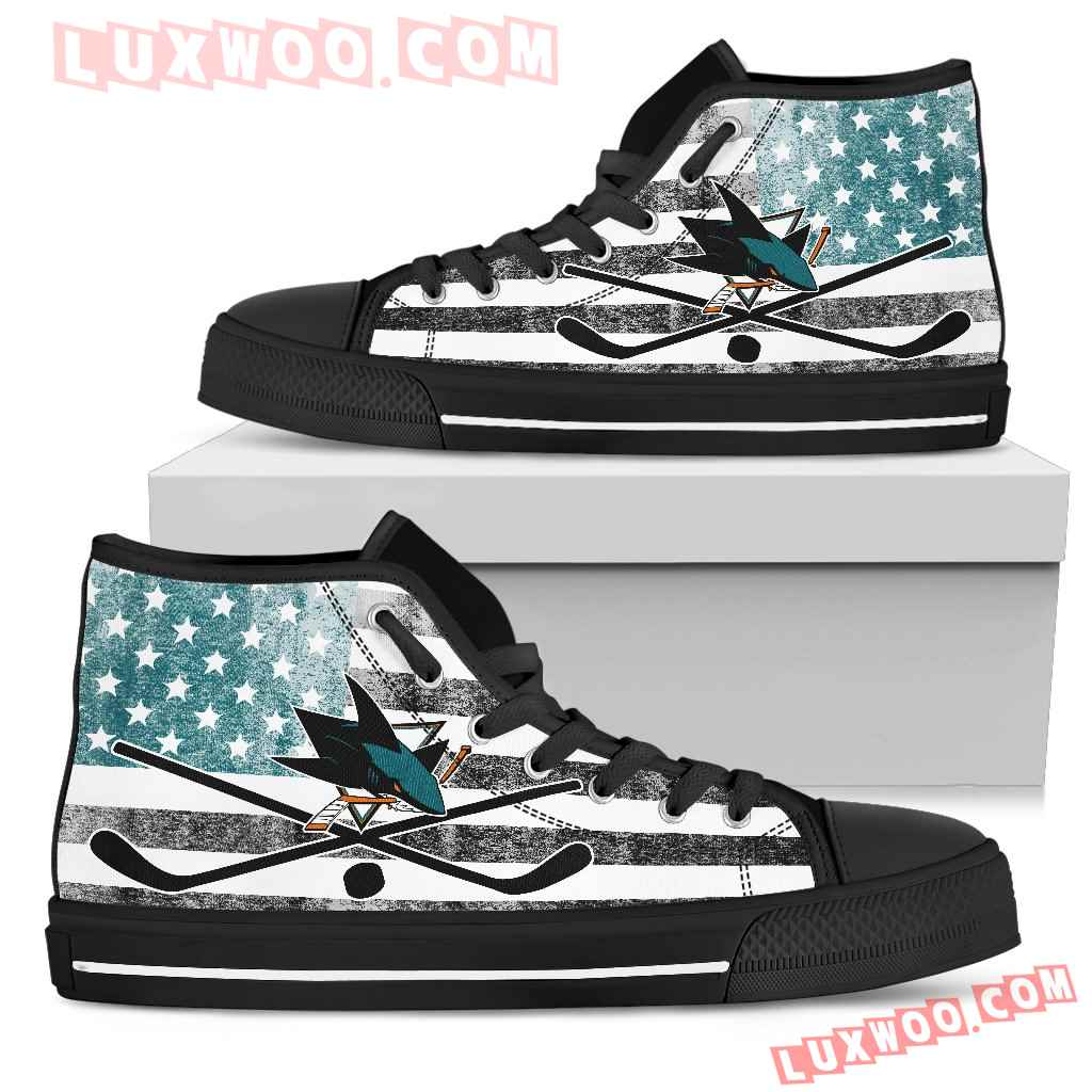 Flag Rugby San Jose Sharks High Top Shoes