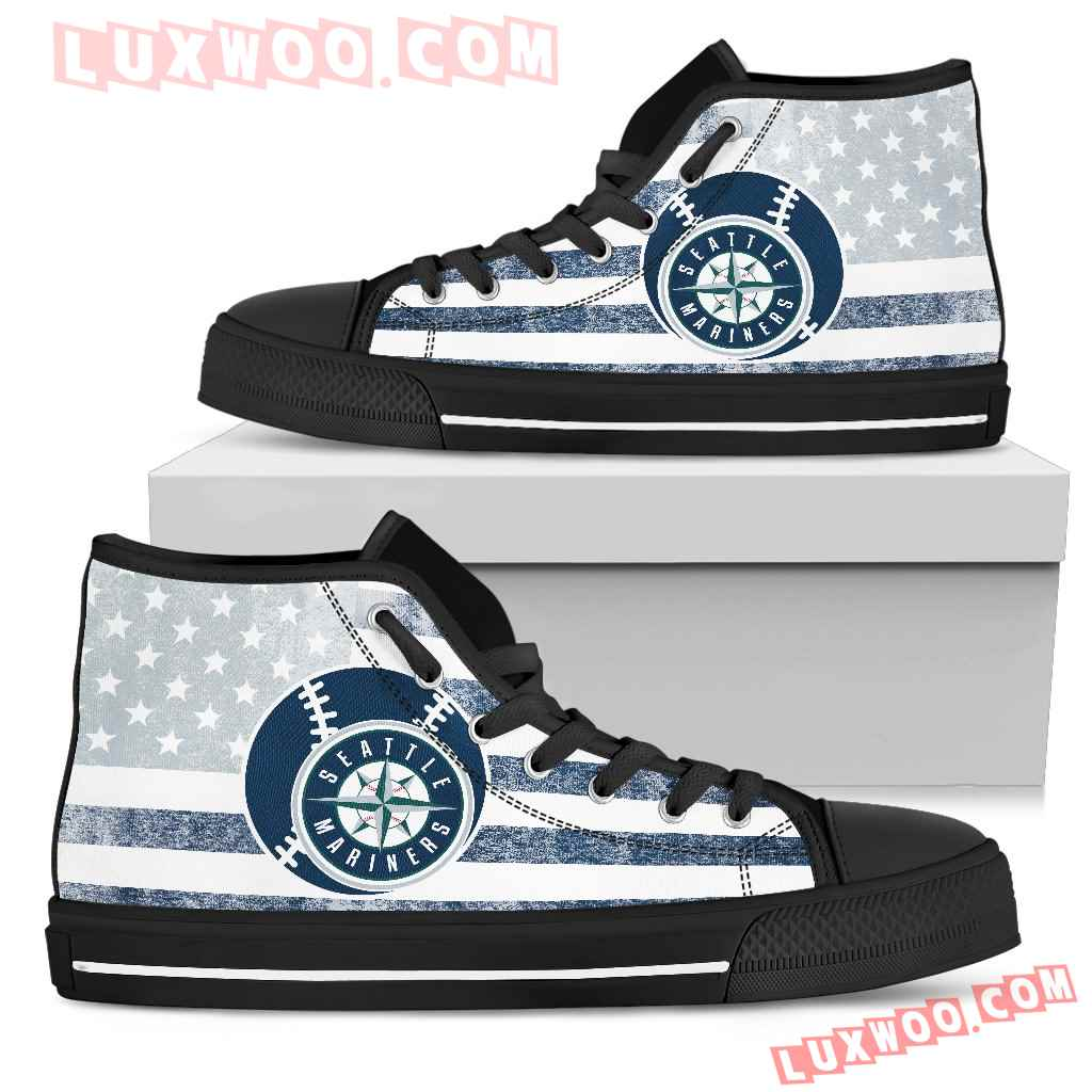 Flag Rugby Seattle Mariners High Top Shoes