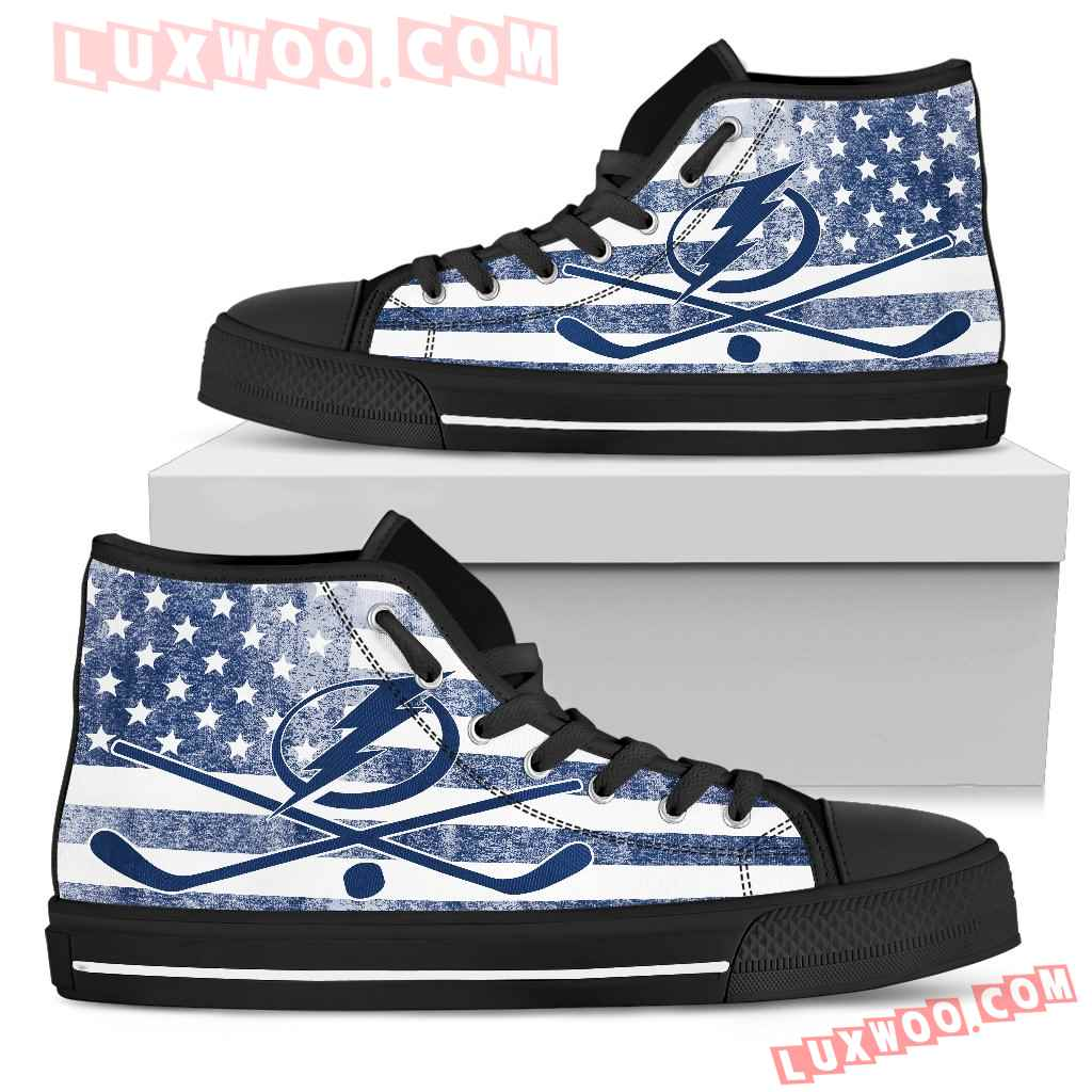 Flag Rugby Tampa Bay Lightning High Top Shoes