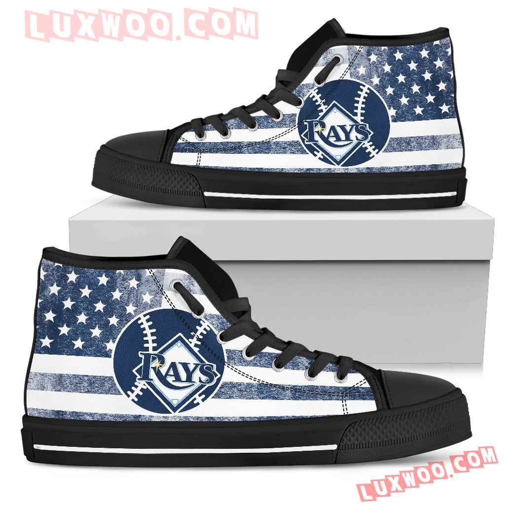 Flag Rugby Tampa Bay Rays High Top Shoes