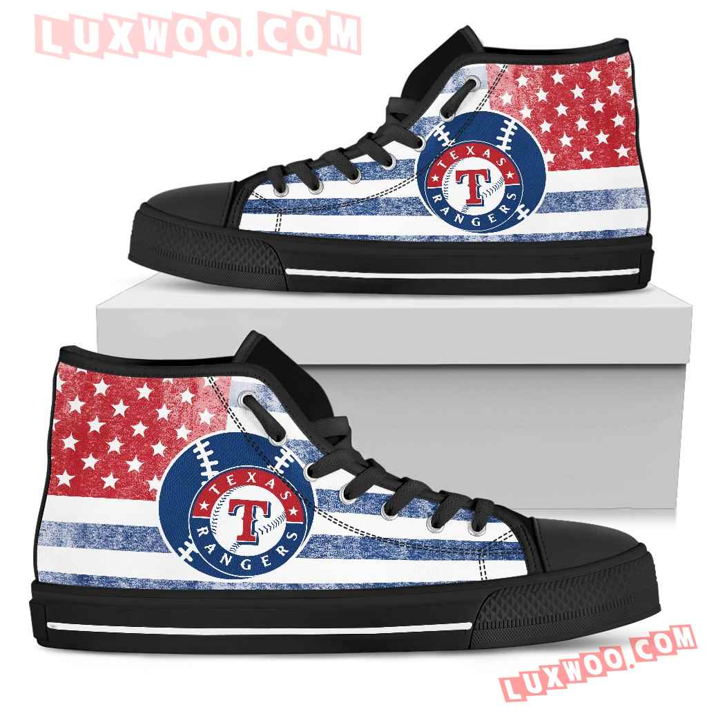 Flag Rugby Texas Rangers High Top Shoes