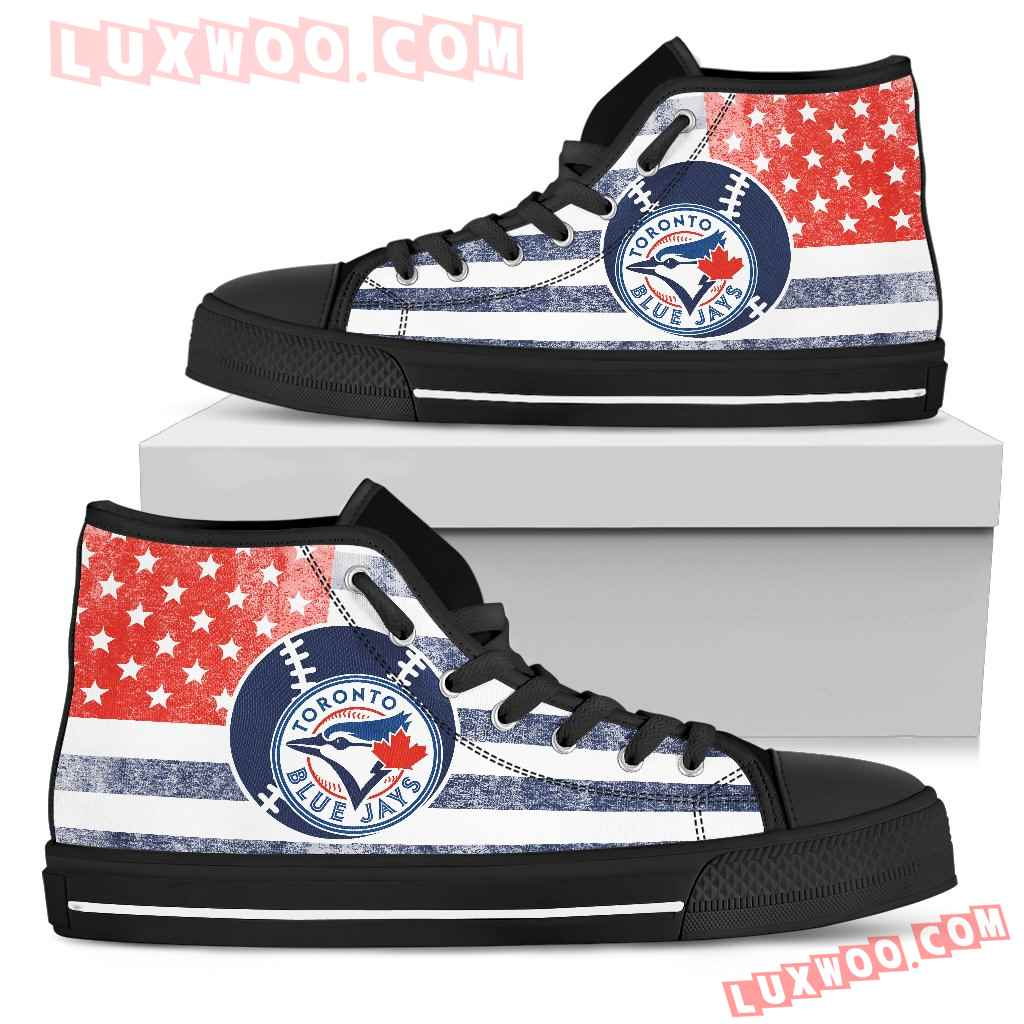 Flag Rugby Toronto Blue Jays High Top Shoes