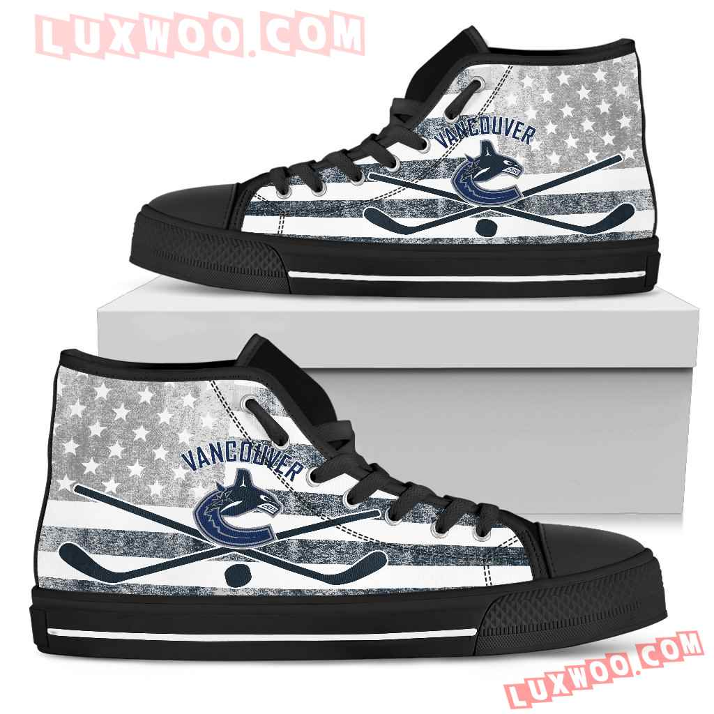 Flag Rugby Vancouver Canucks High Top Shoes