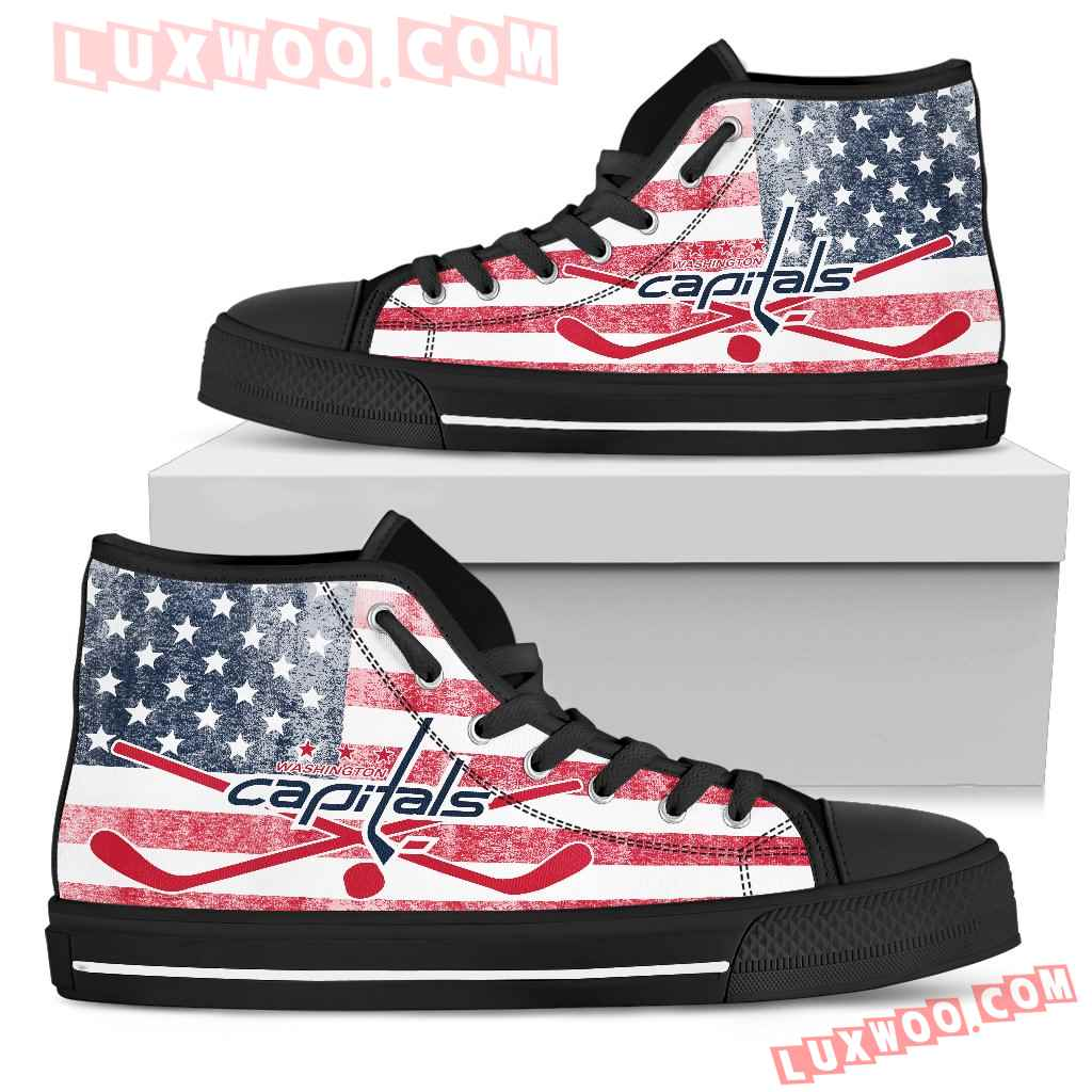 Flag Rugby Washington Capitals High Top Shoes