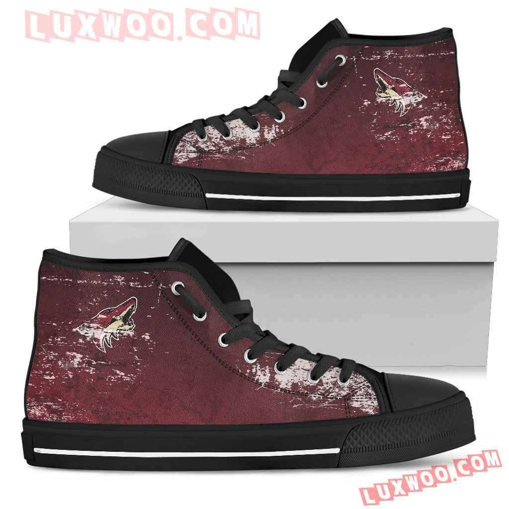 Grunge Vintage Logo Arizona Coyotes High Top Shoes