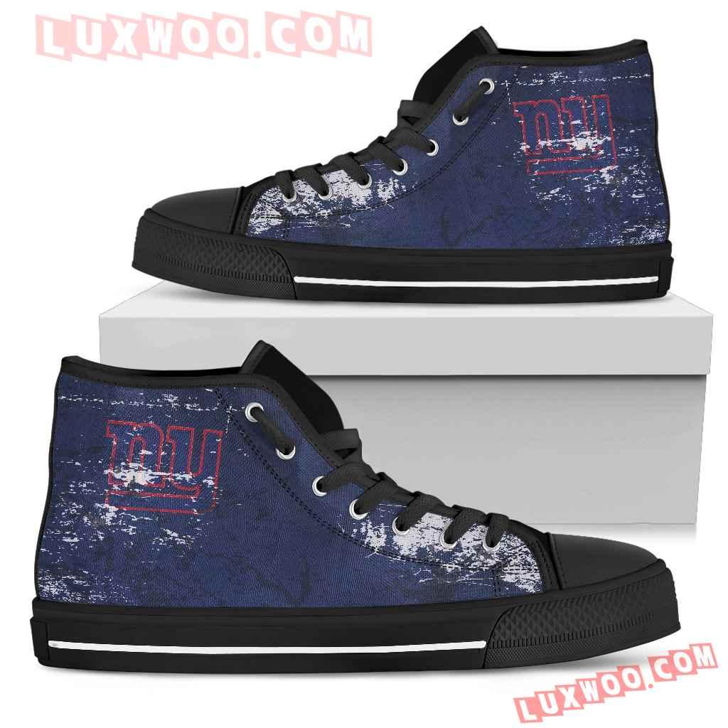 Grunge Vintage Logo New York Giants High Top Shoes