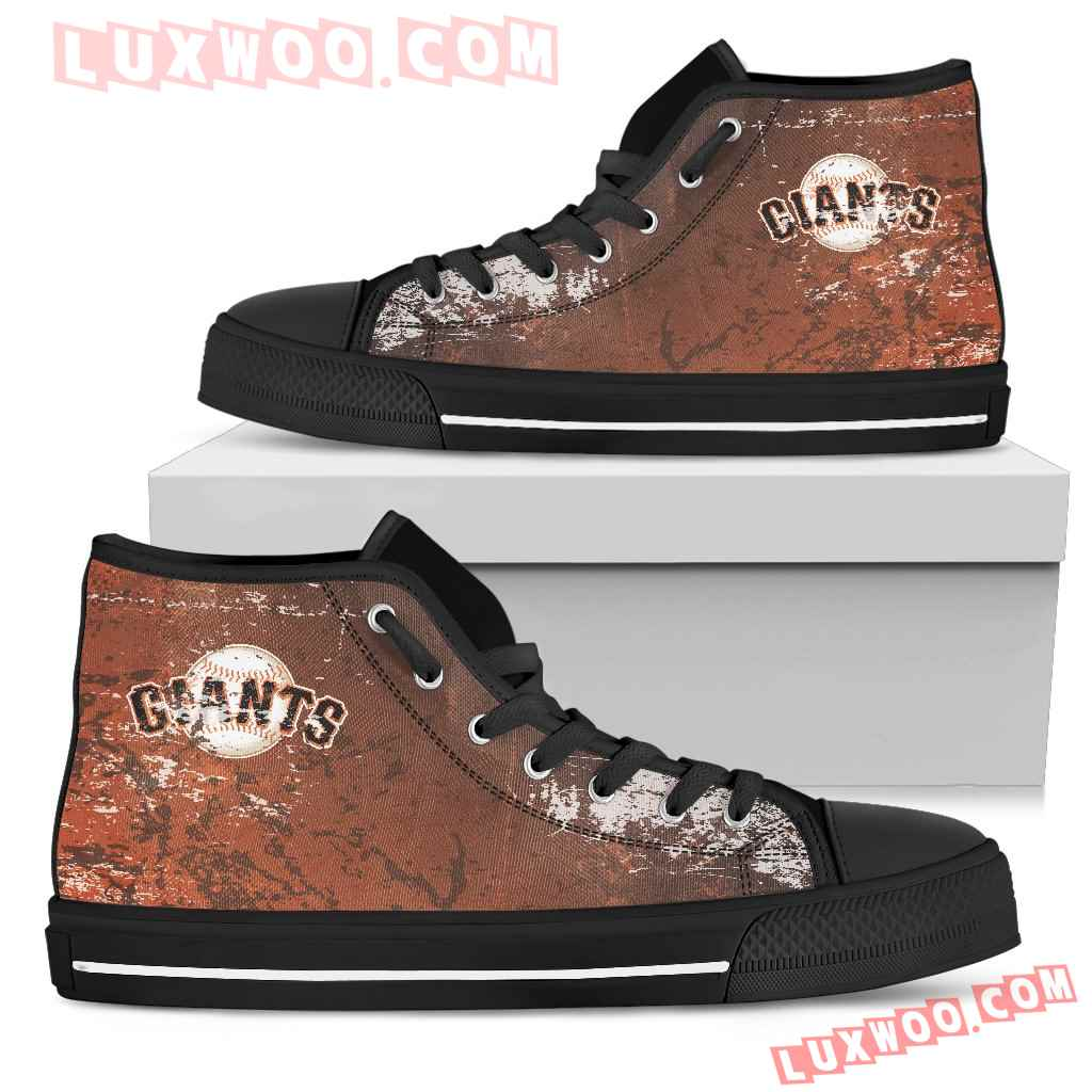 Grunge Vintage Logo San Francisco Giants High Top Shoes