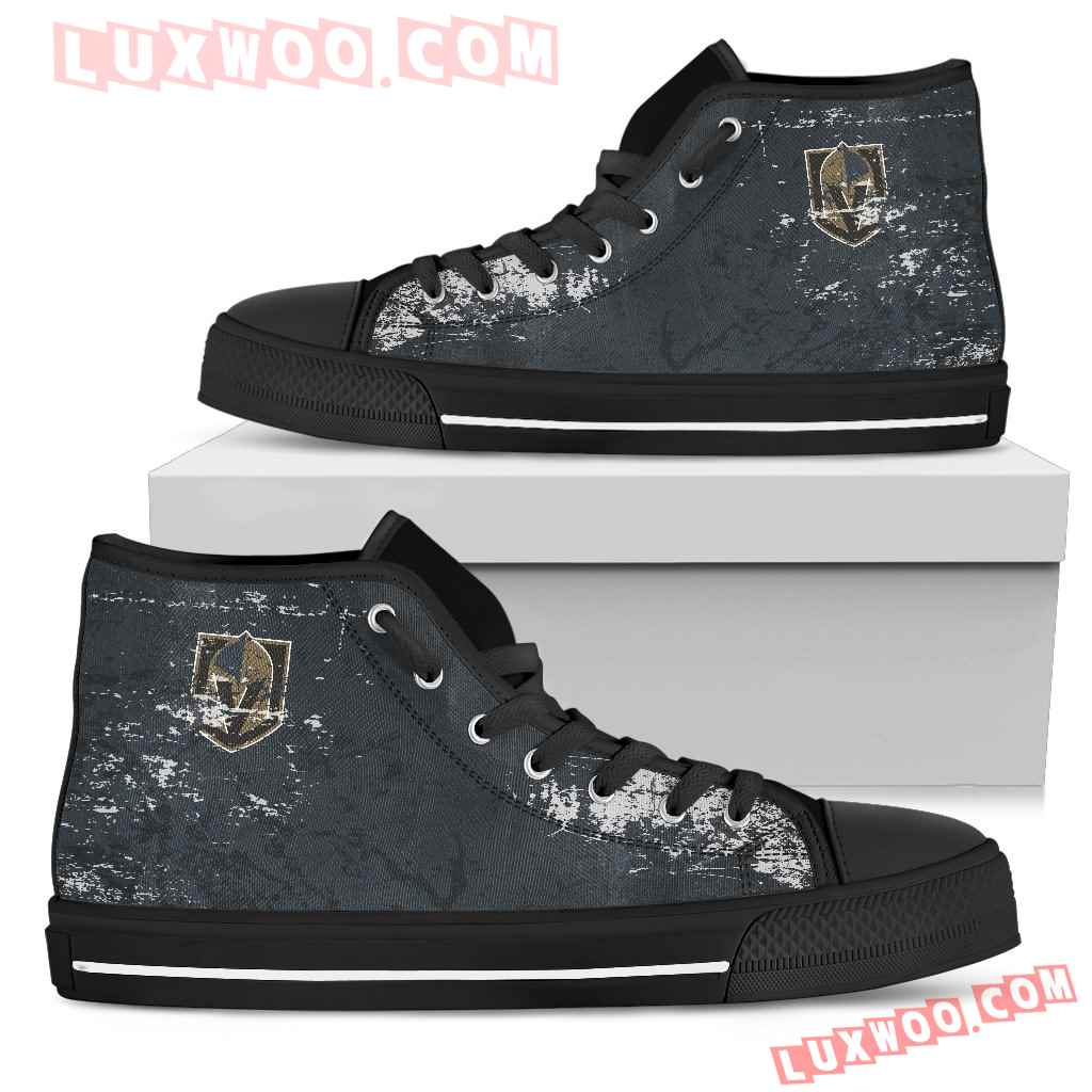 Grunge Vintage Logo Vegas Golden Knights High Top Shoes