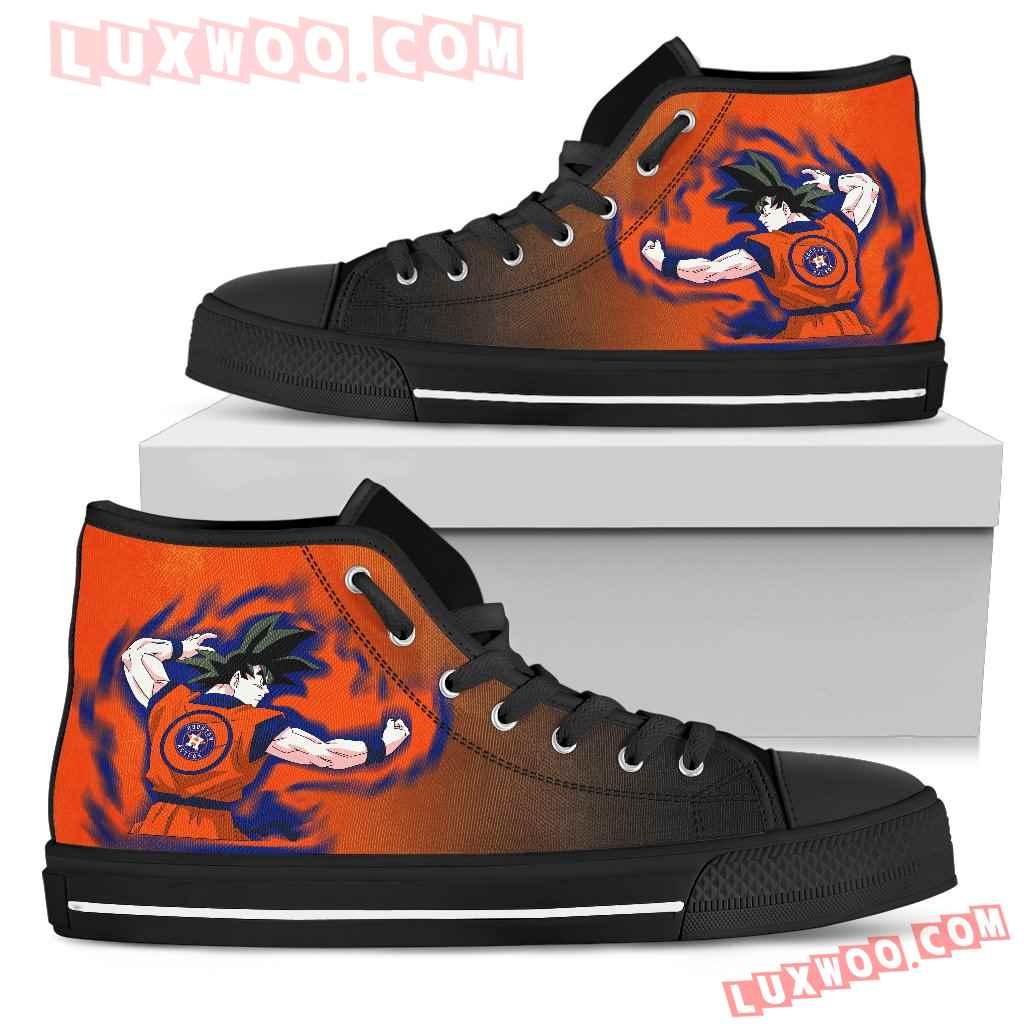 Houston Astros Goku Saiyan Power High Top Shoes