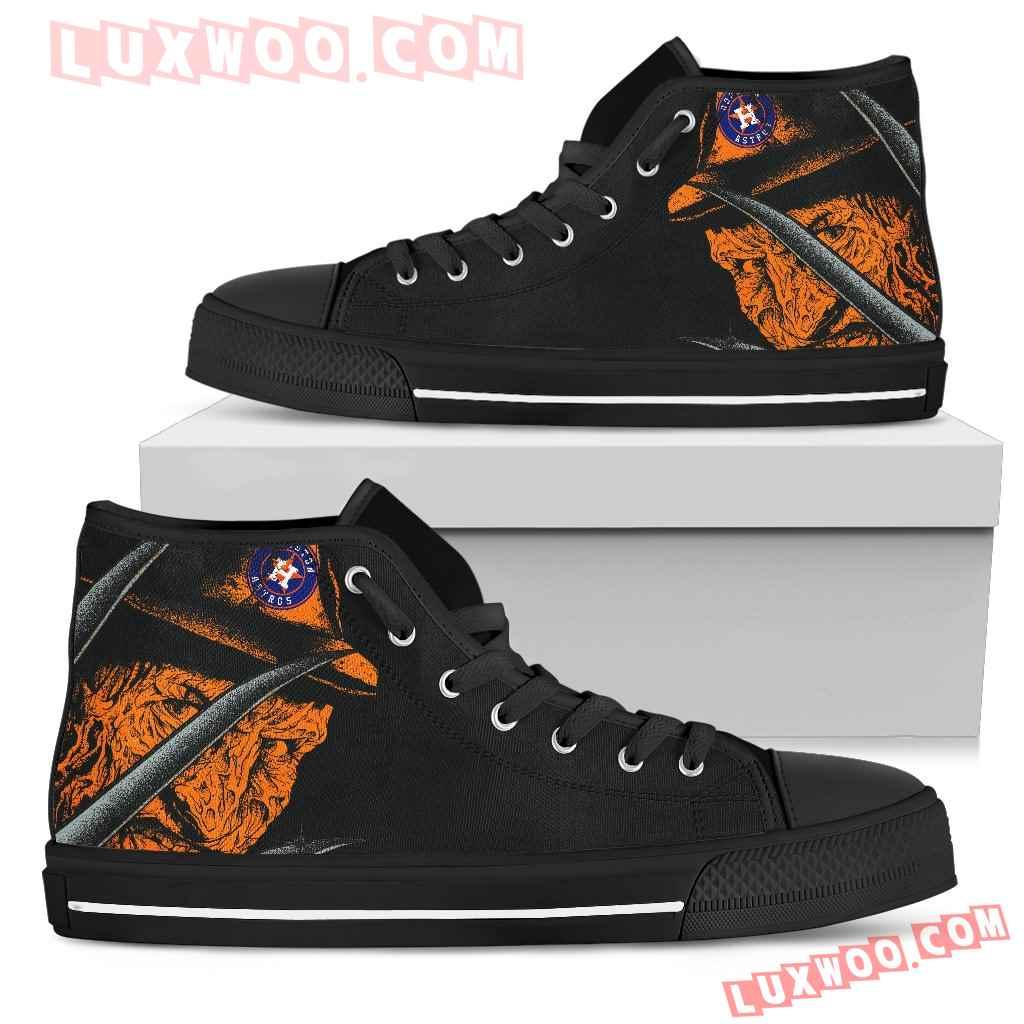 Houston Astros Nightmare Freddy Colorful High Top Shoes