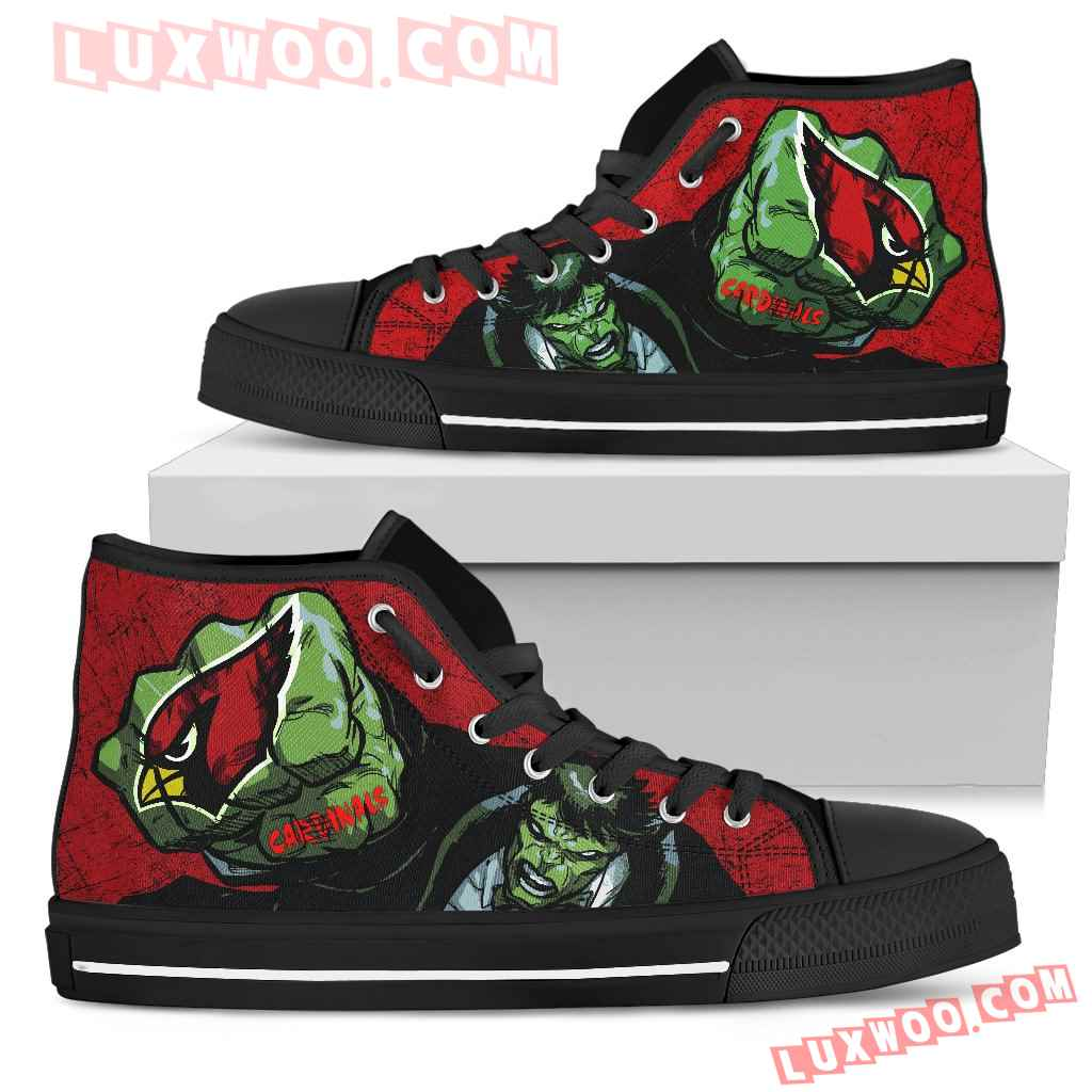 Hulk Punch Arizona Cardinals High Top Shoes