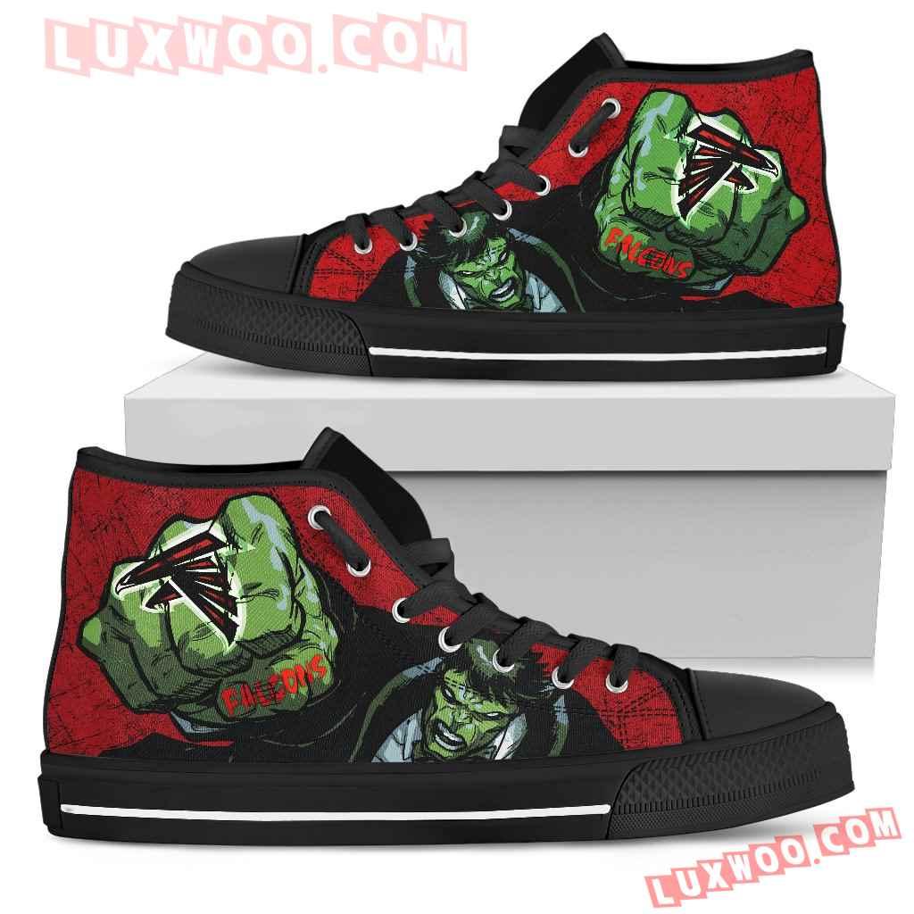Hulk Punch Atlanta Falcons High Top Shoes