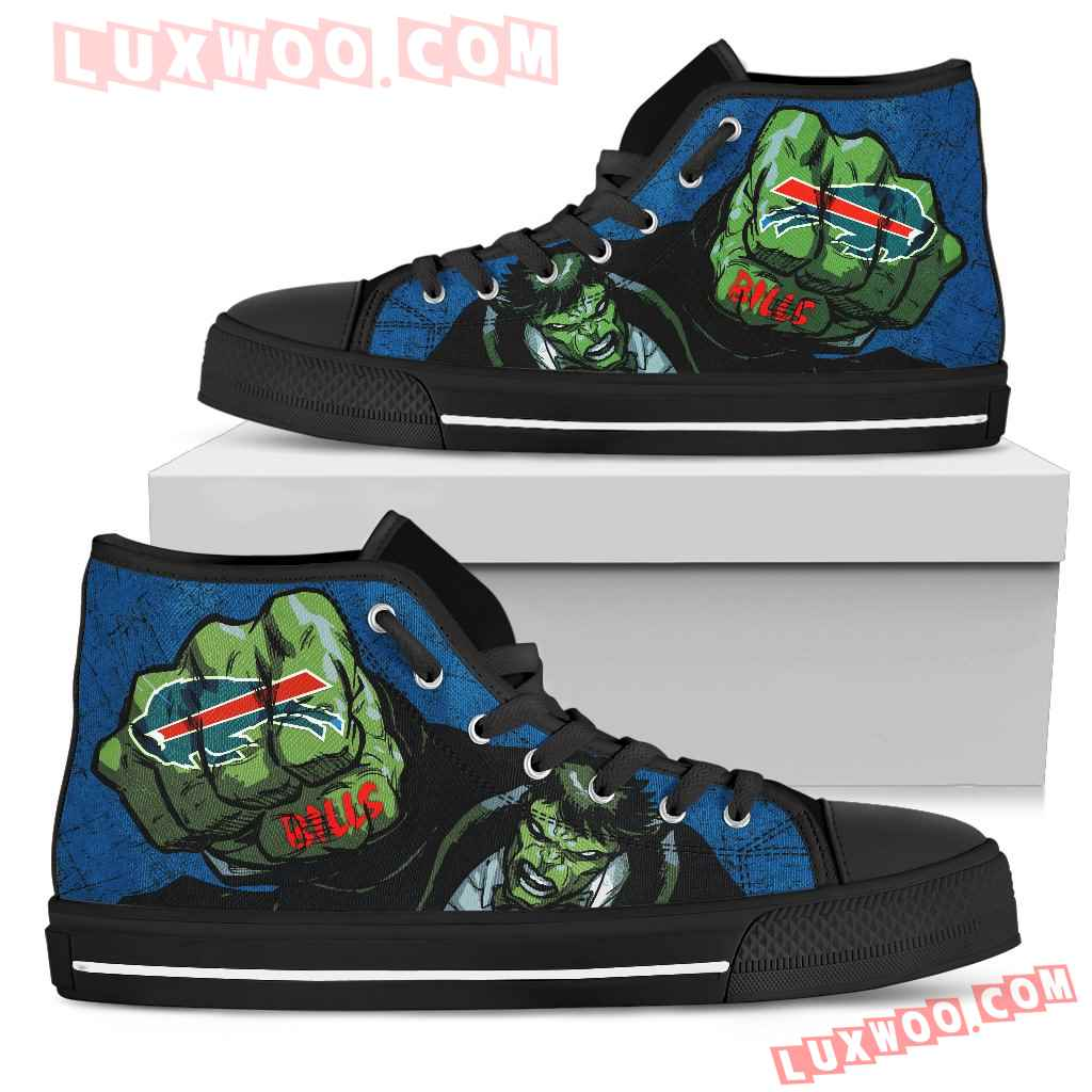 Hulk Punch Buffalo Bills High Top Shoes