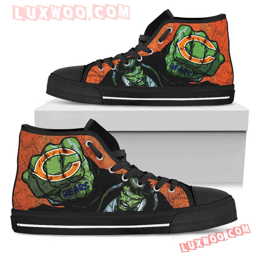 Hulk Punch Chicago Bears High Top Shoes