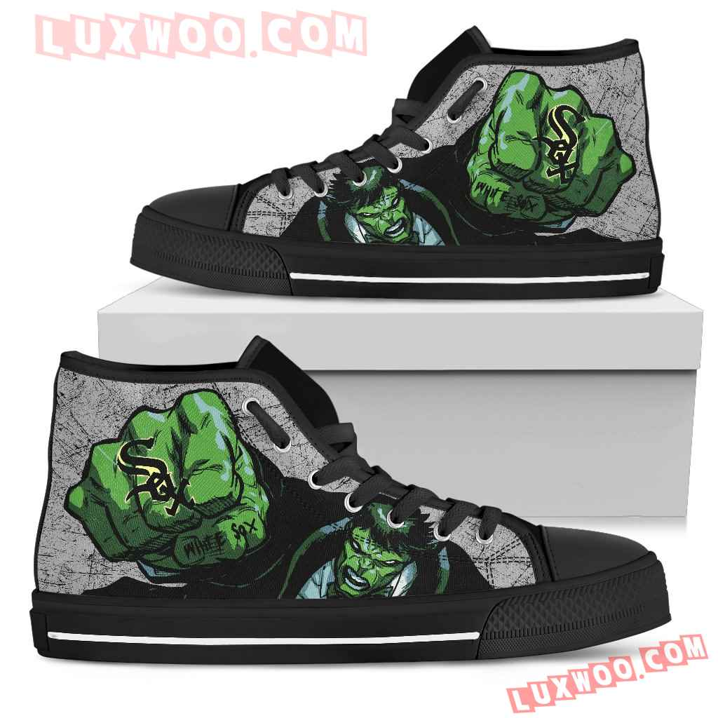 Hulk Punch Chicago White Sox High Top Shoes