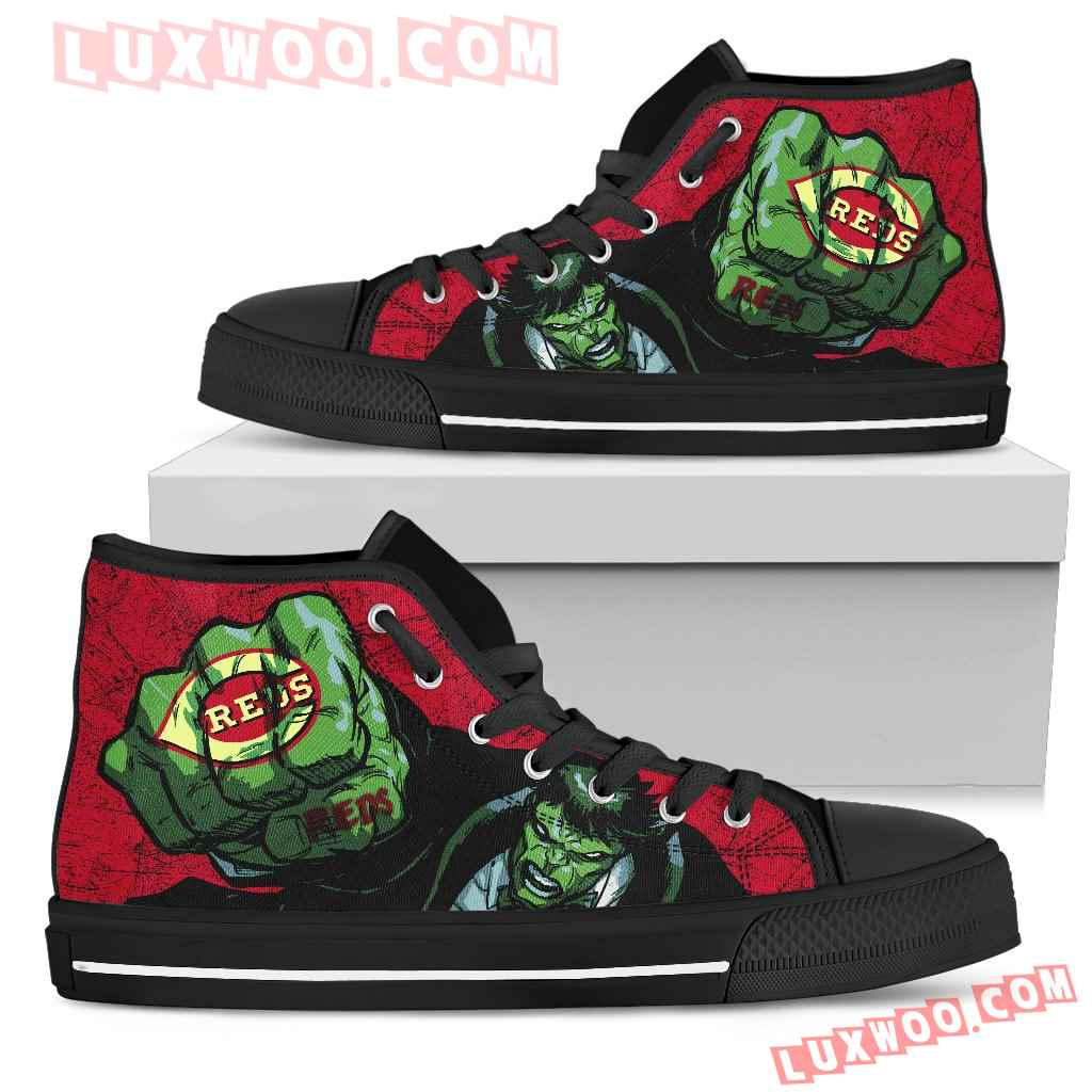 Hulk Punch Cincinnati Reds High Top Shoes