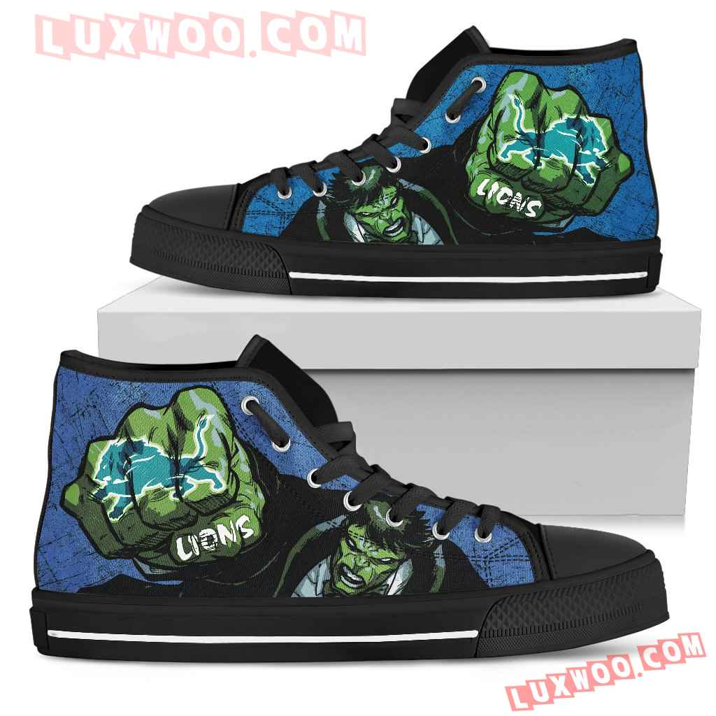 Hulk Punch Detroit Lions High Top Shoes