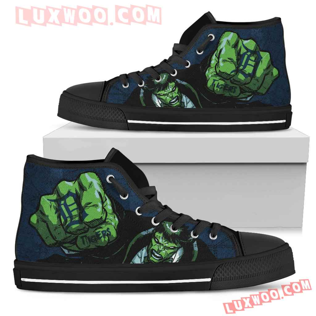 Hulk Punch Detroit Tigers High Top Shoes