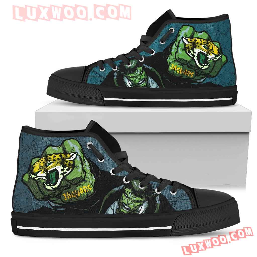 Hulk Punch Jacksonville Jaguars High Top Shoes