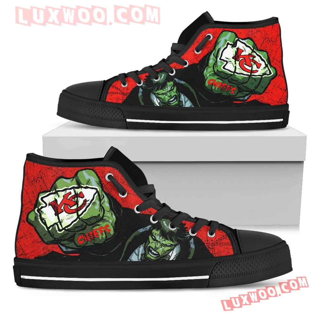 Hulk Punch Kansas City Chiefs High Top Shoes
