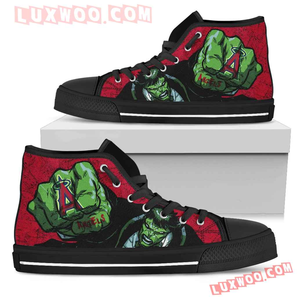 Hulk Punch Los Angeles Angels High Top Shoes