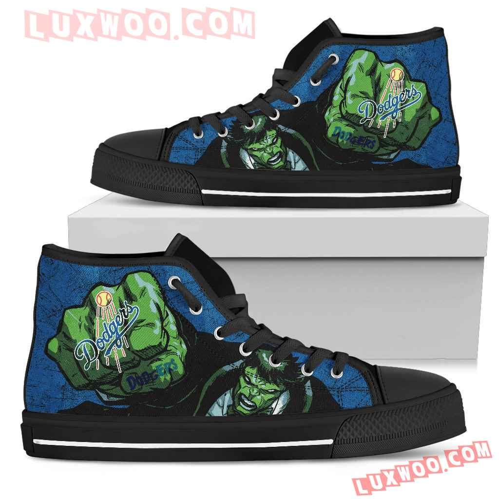 Hulk Punch Los Angeles Dodgers High Top Shoes