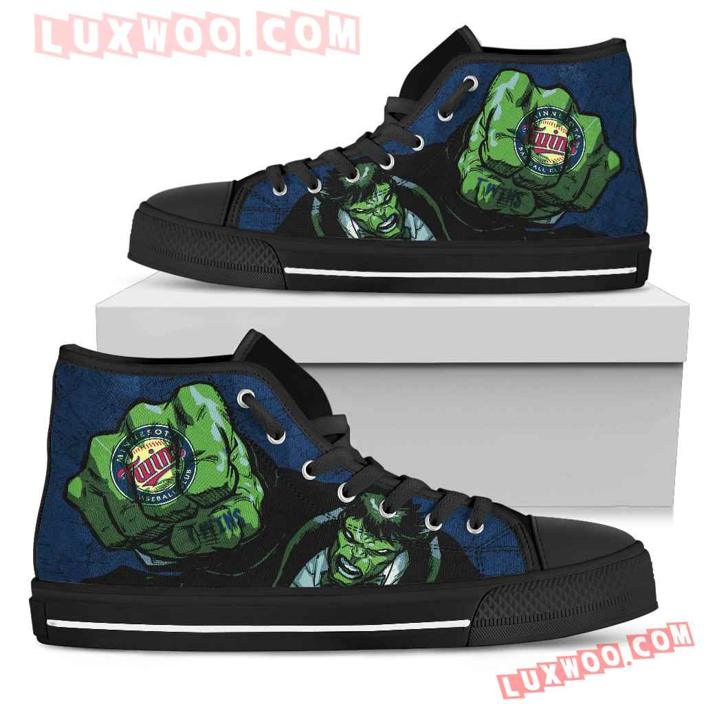 Hulk Punch Minnesota Twins High Top Shoes