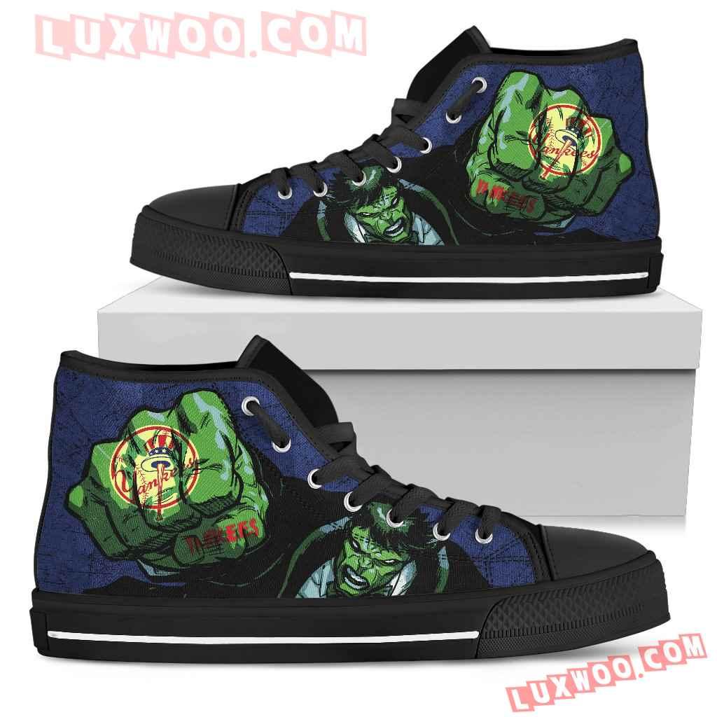Hulk Punch New York Yankees High Top Shoes