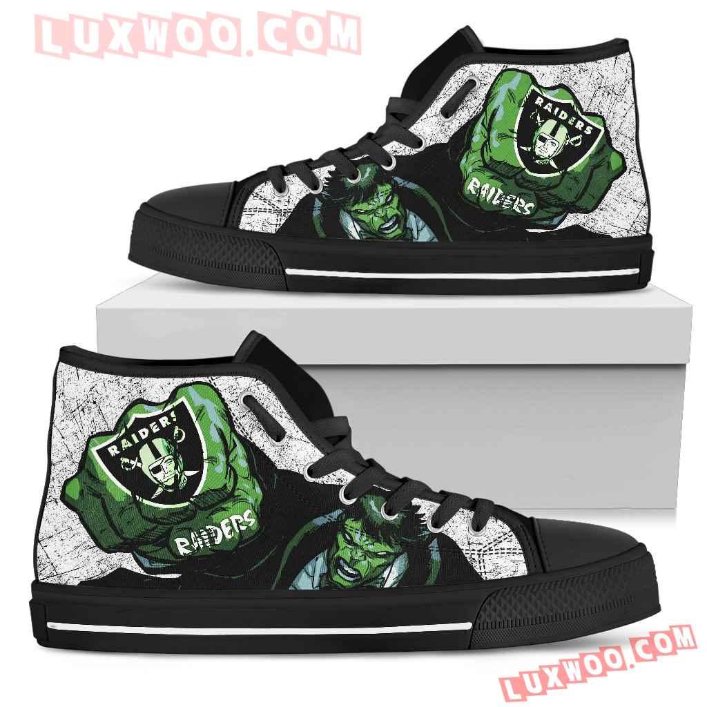 Hulk Punch Oakland Raiders High Top Shoes