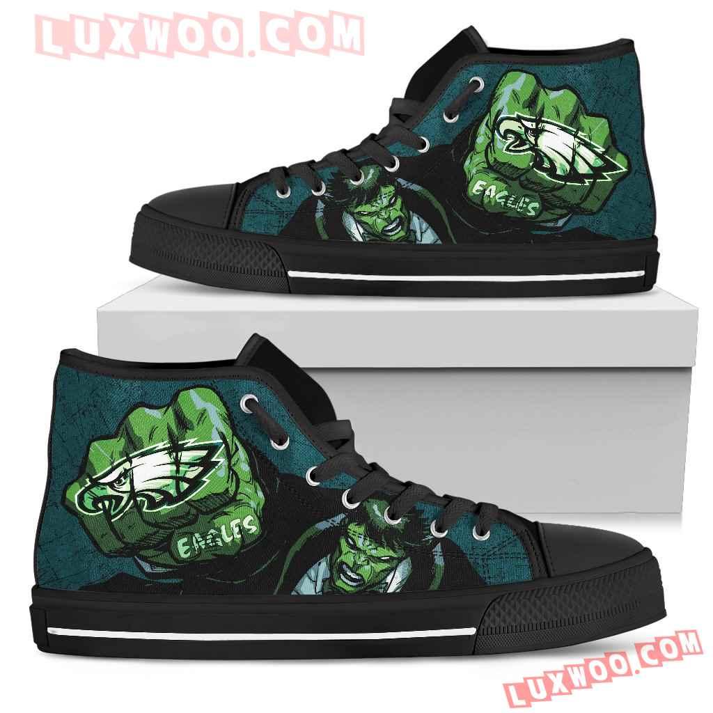 Hulk Punch Philadelphia Eagles High Top Shoes