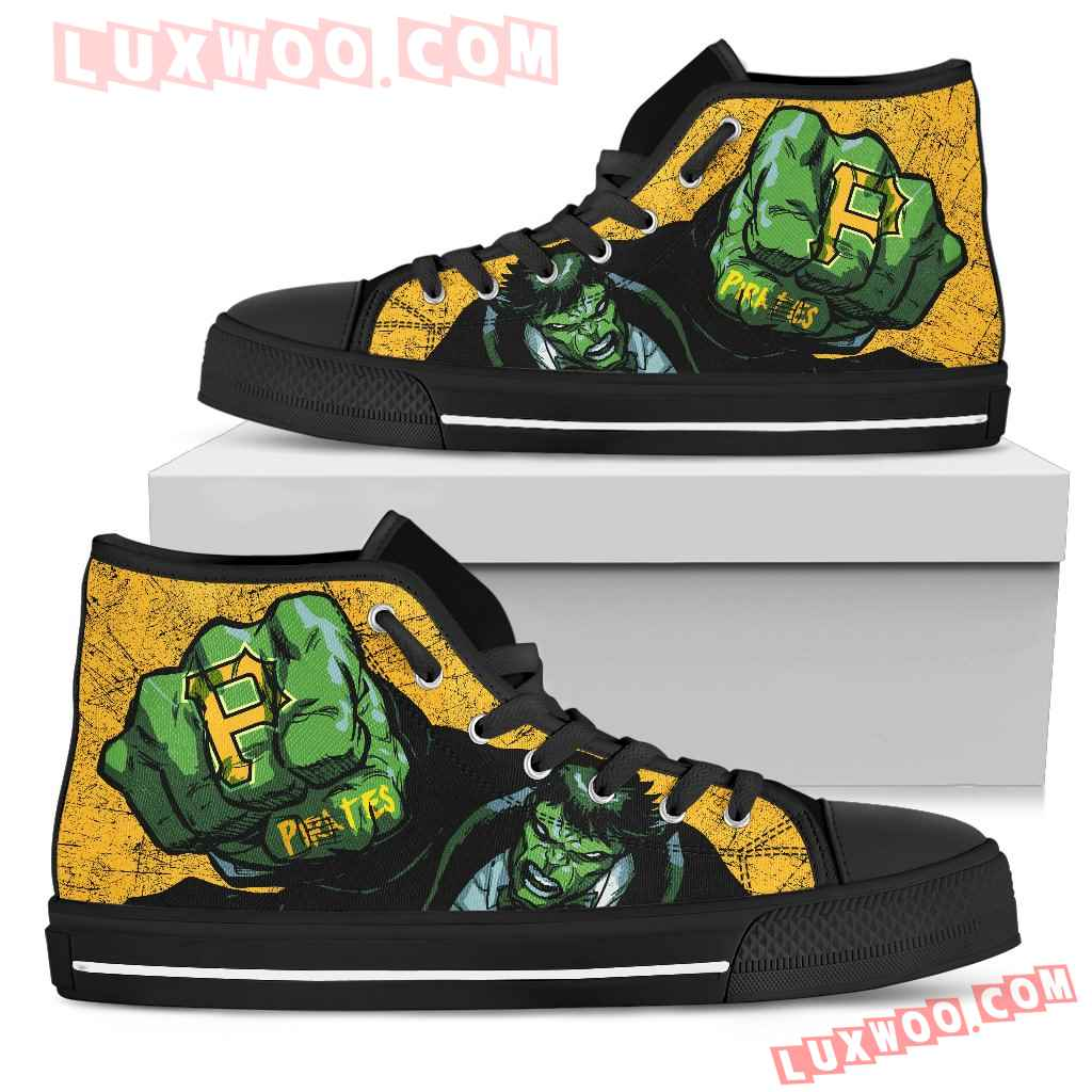 Hulk Punch Pittsburgh Pirates High Top Shoes