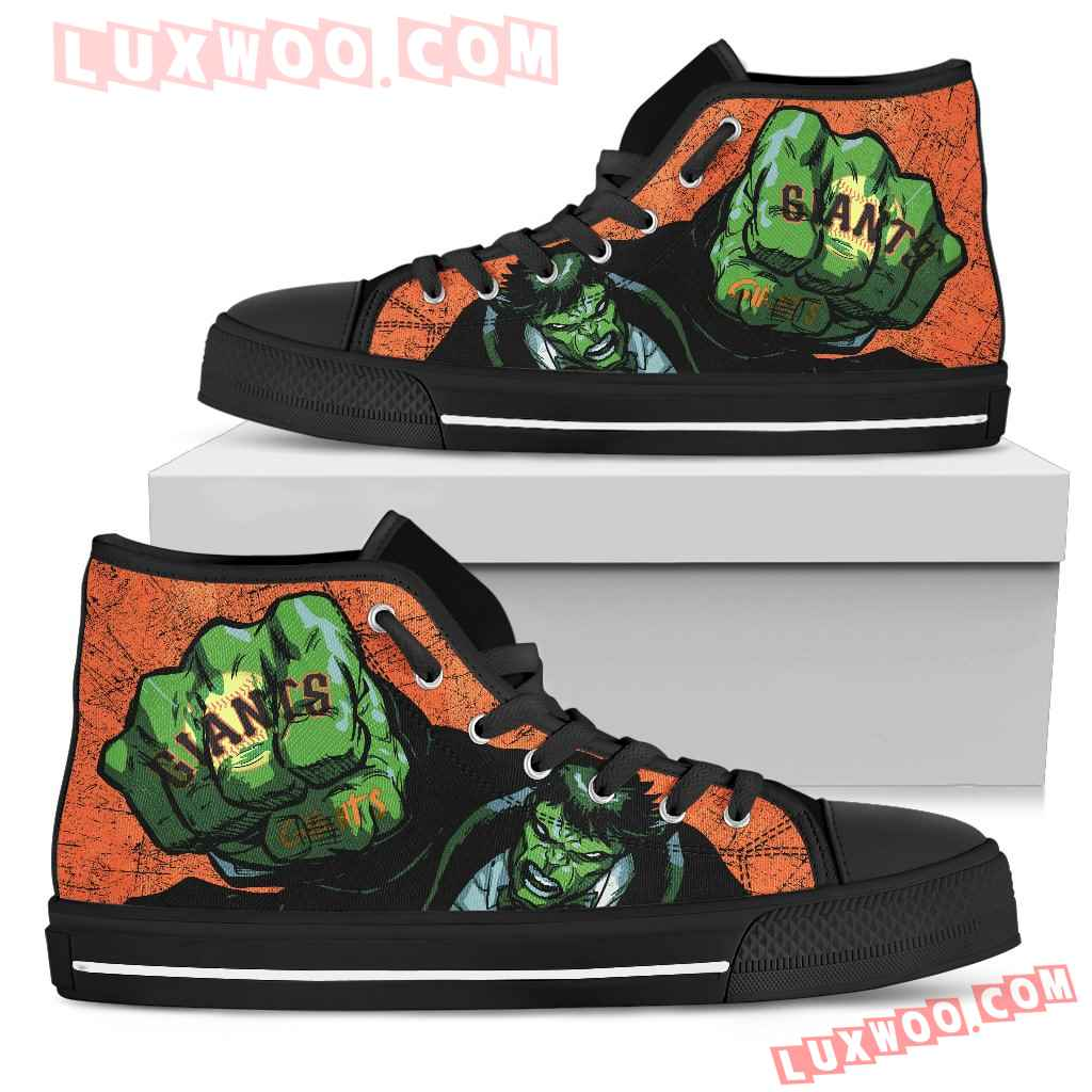 Hulk Punch San Francisco Giants High Top Shoes