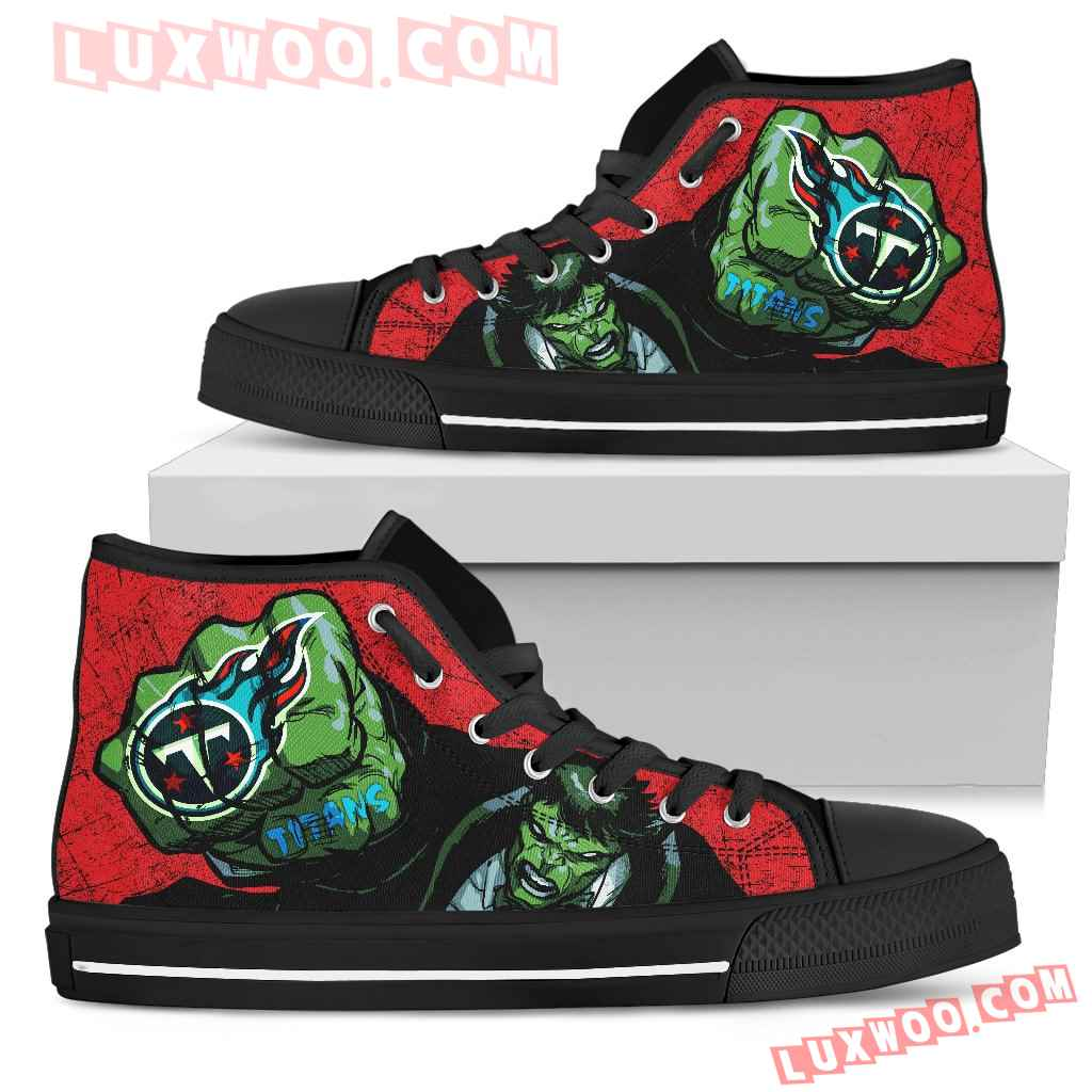 Hulk Punch Tennessee Titans High Top Shoes