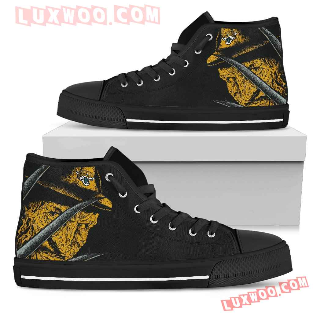 Jacksonville Jaguars Nightmare Freddy Colorful High Top Shoes