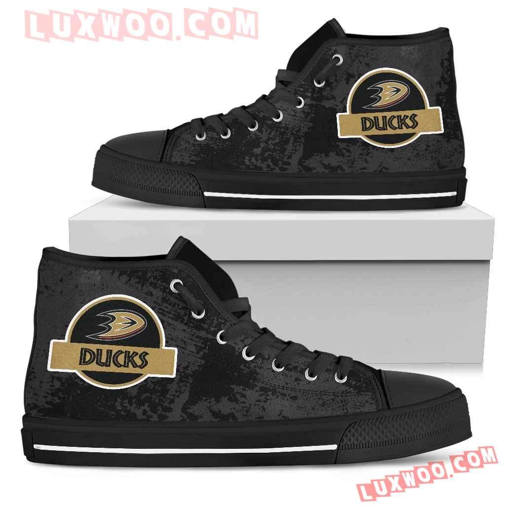 Jurassic Park Anaheim Ducks High Top Shoes