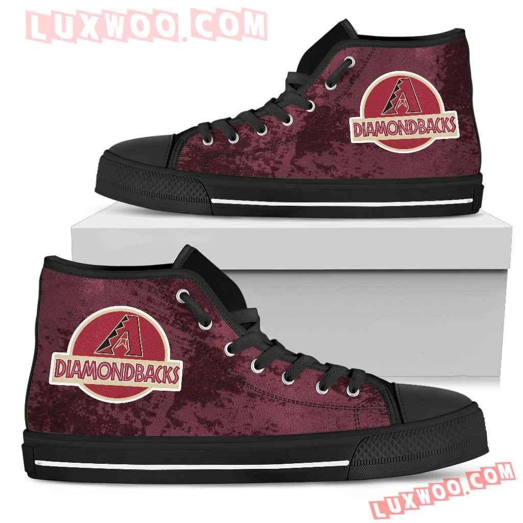 Jurassic Park Arizona Diamondbacks High Top Shoes