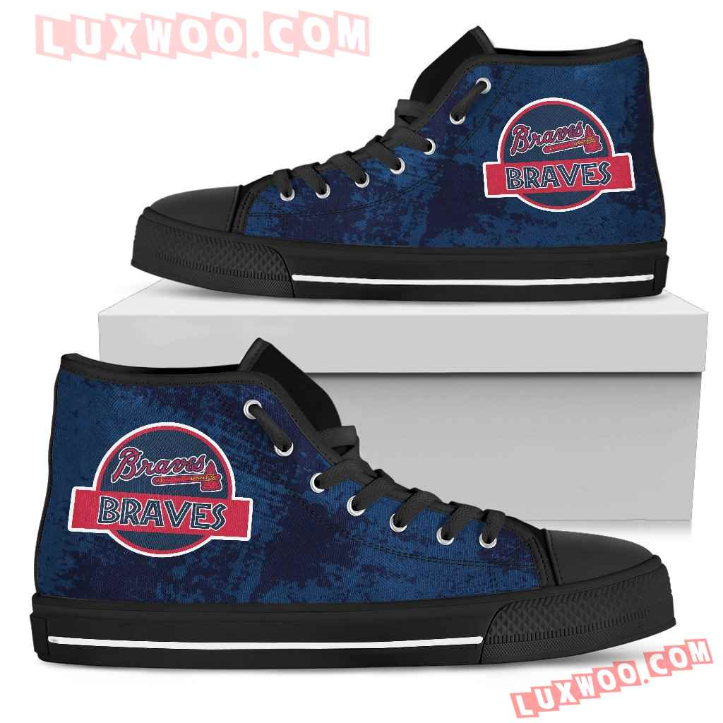 Jurassic Park Atlanta Braves High Top Shoes