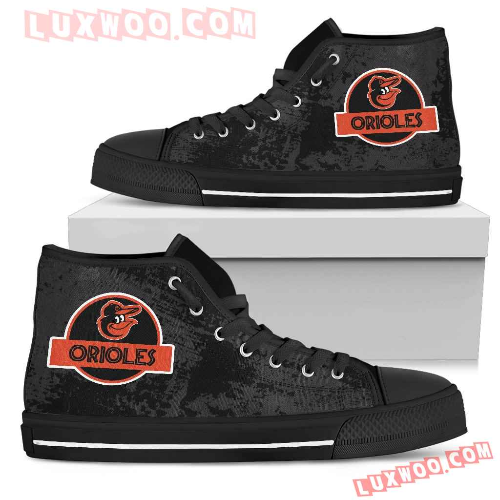 Jurassic Park Baltimore Orioles High Top Shoes