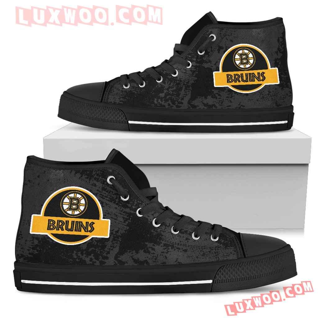 Jurassic Park Boston Bruins High Top Shoes