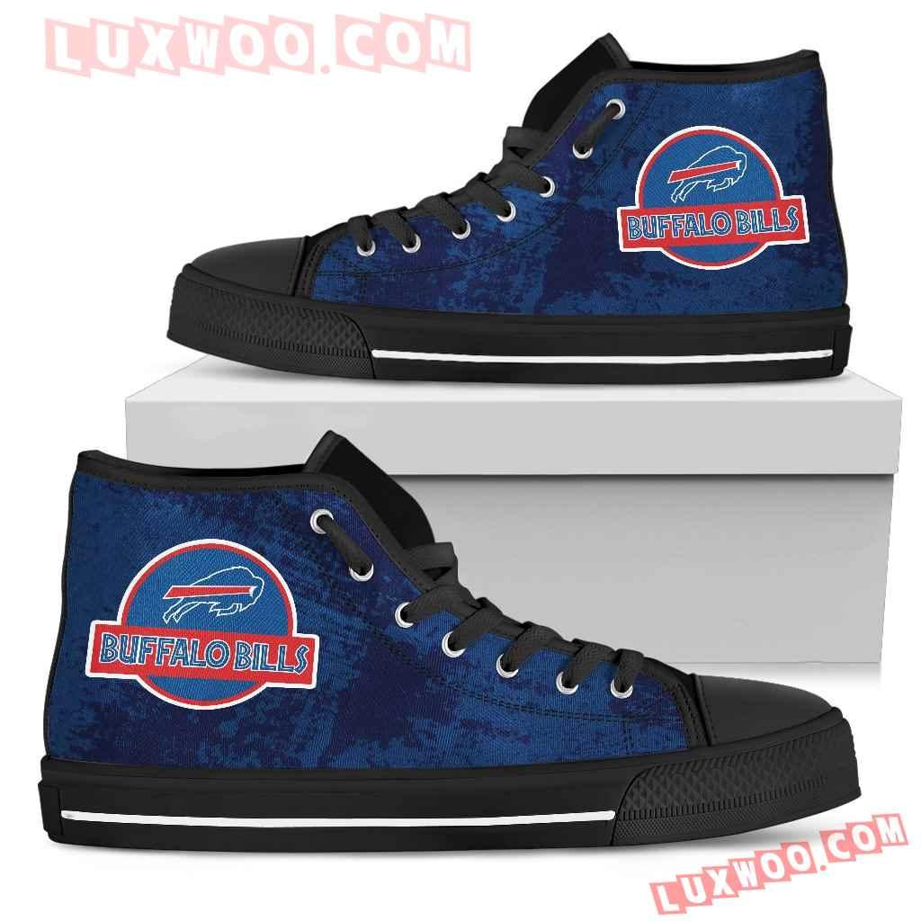 Jurassic Park Buffalo Bills High Top Shoes