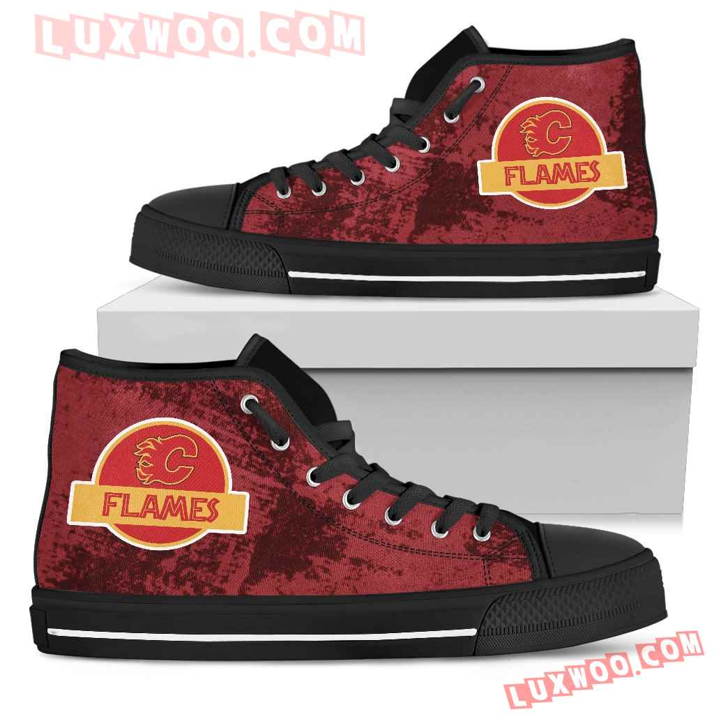 Jurassic Park Calgary Flames High Top Shoes