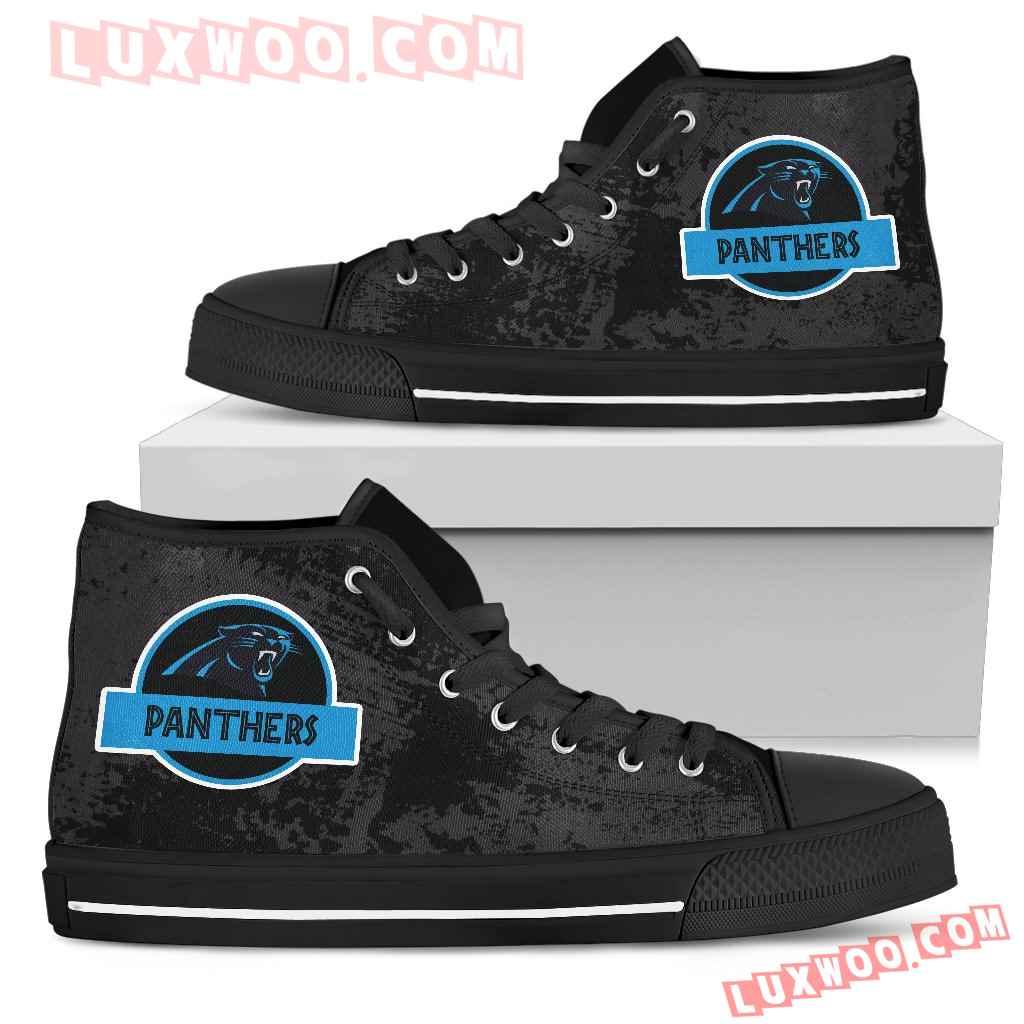 Jurassic Park Carolina Panthers High Top Shoes