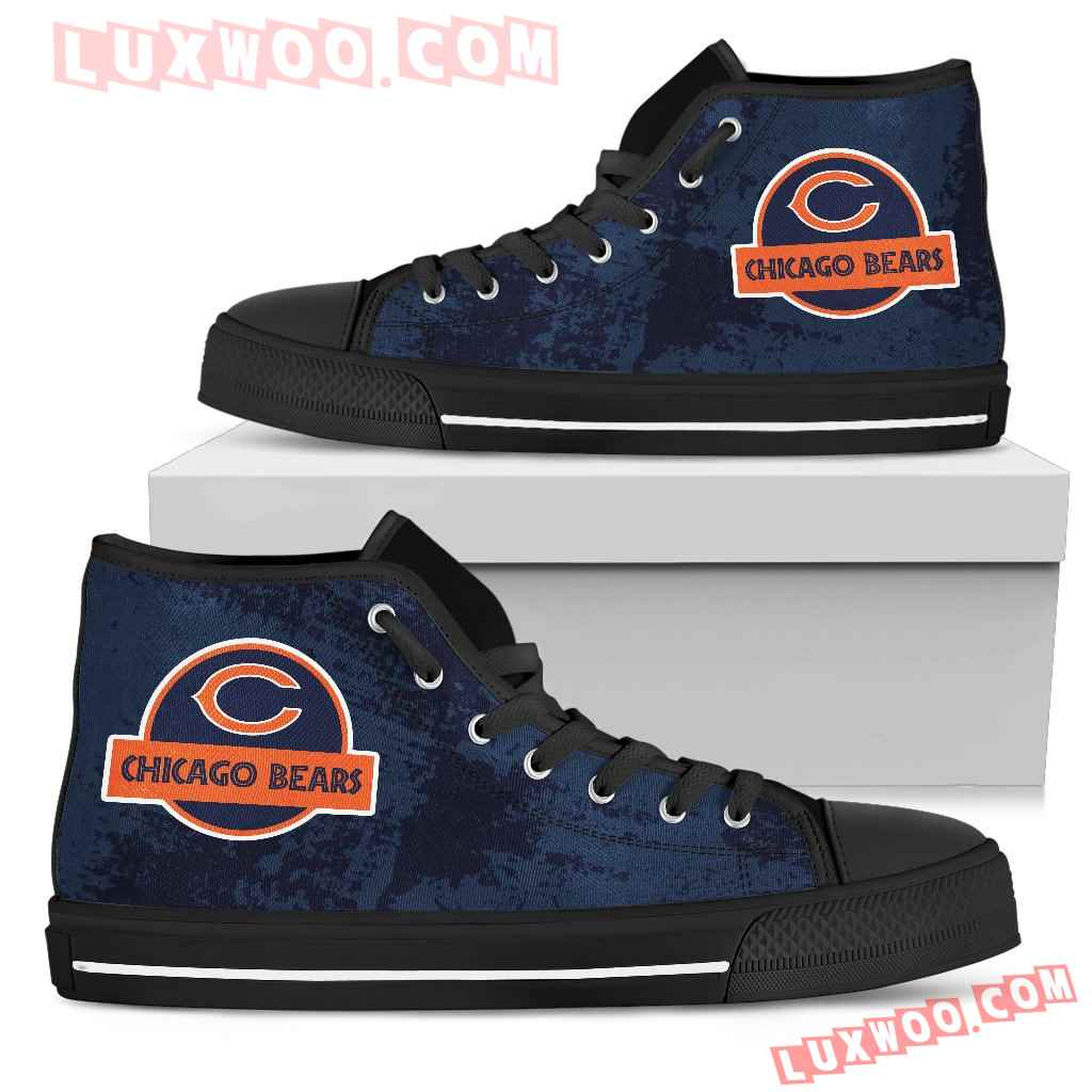 Jurassic Park Chicago Bears High Top Shoes