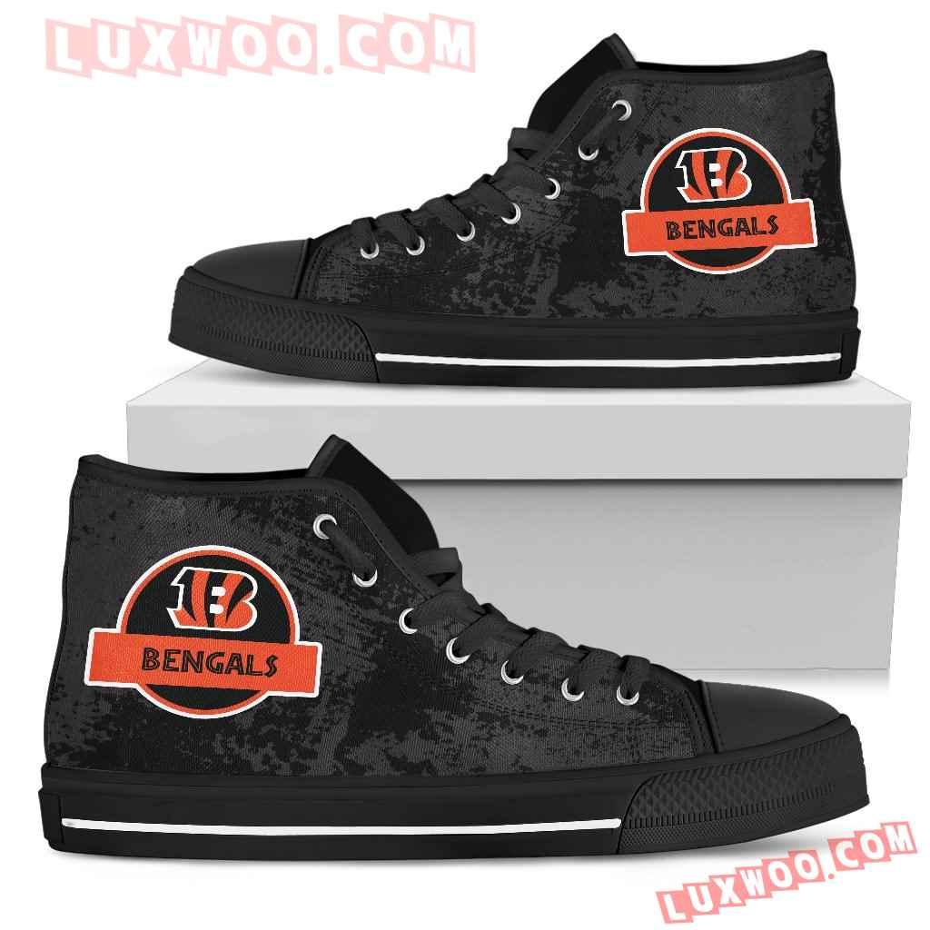 Jurassic Park Cincinnati Bengals High Top Shoes