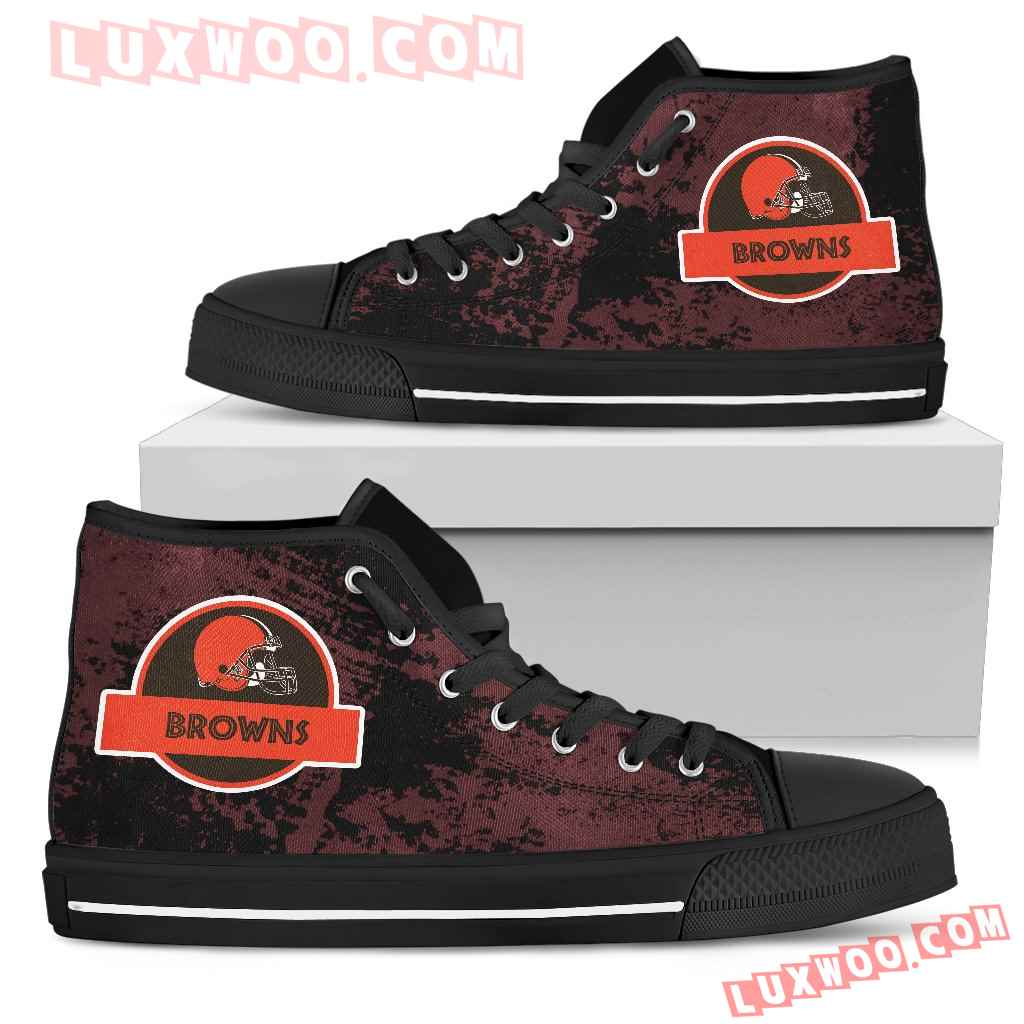 Jurassic Park Cleveland Browns High Top Shoes