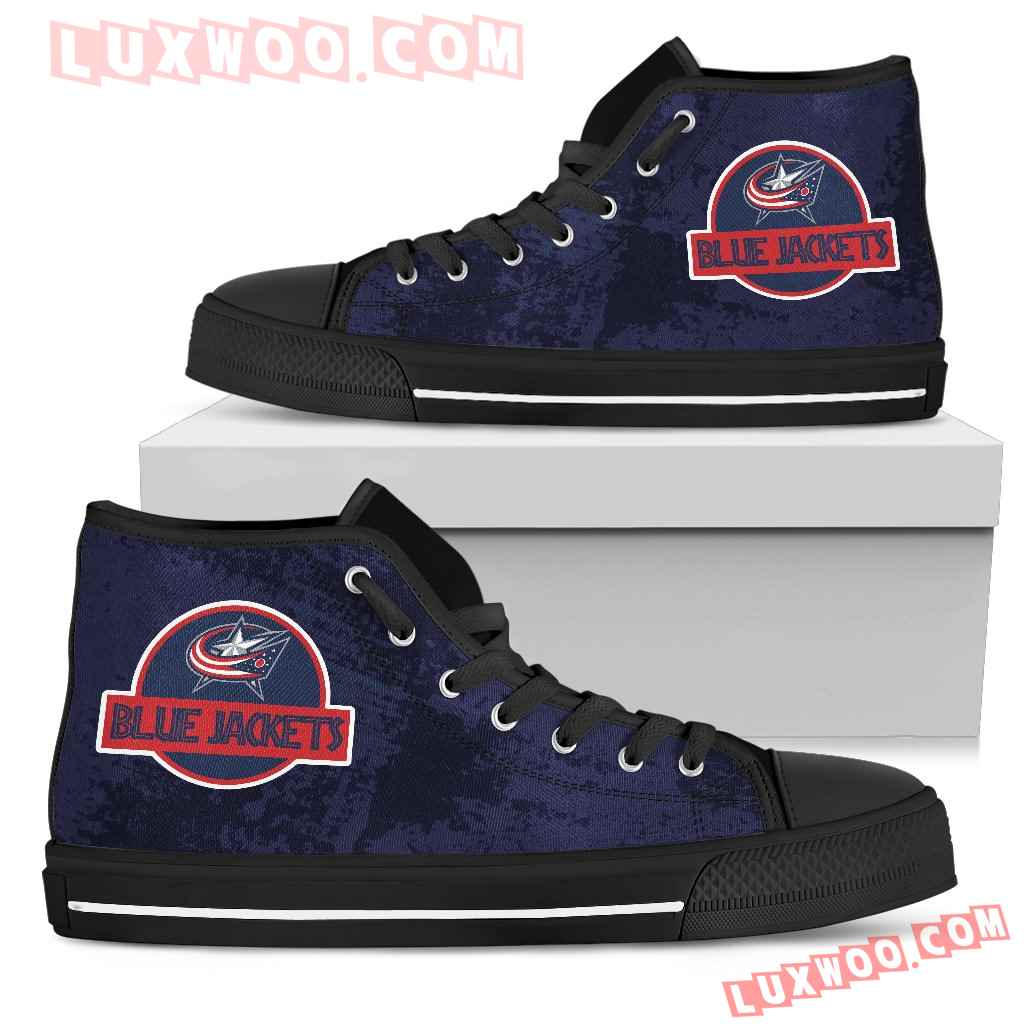 Jurassic Park Columbus Blue Jackets High Top Shoes