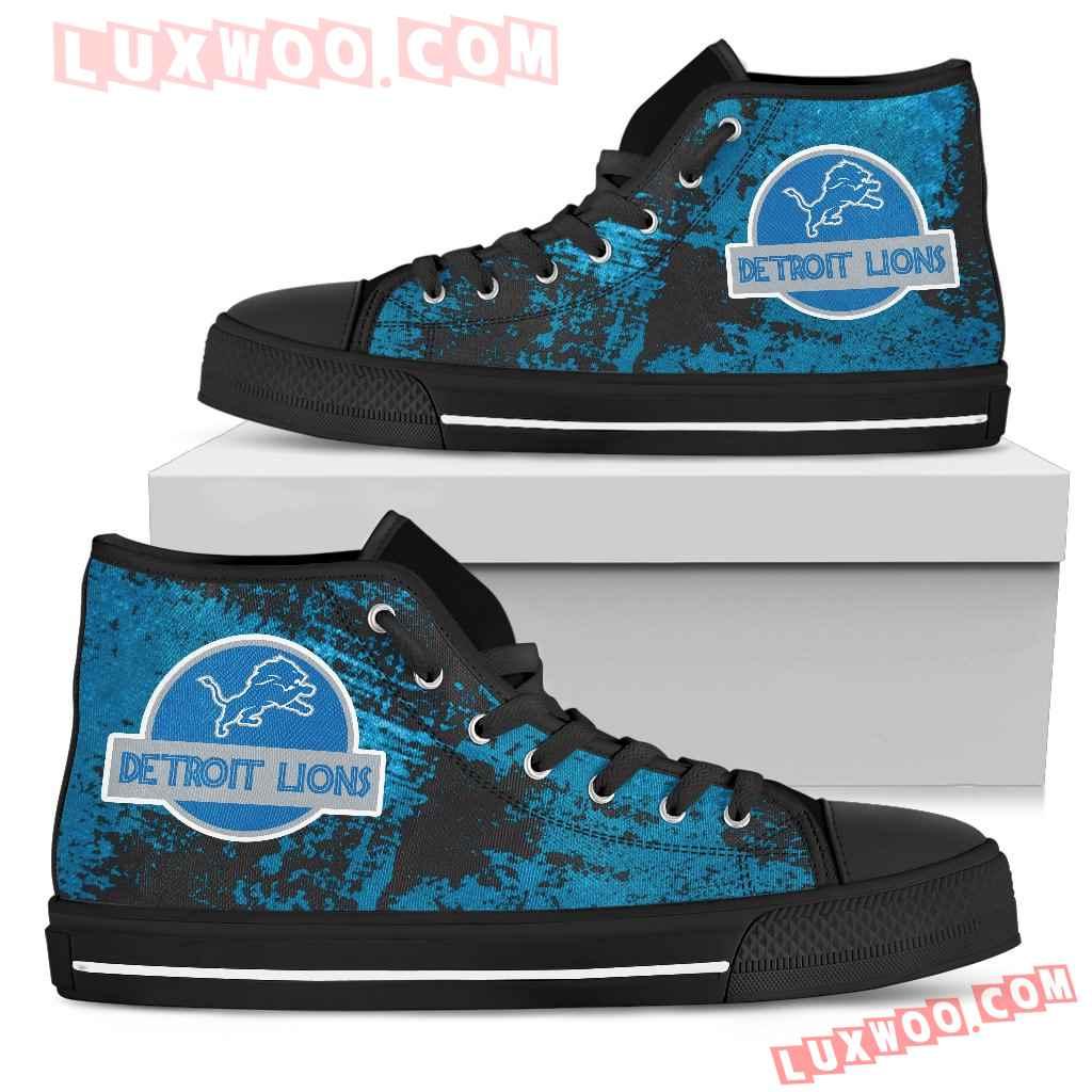 Jurassic Park Detroit Lions High Top Shoes