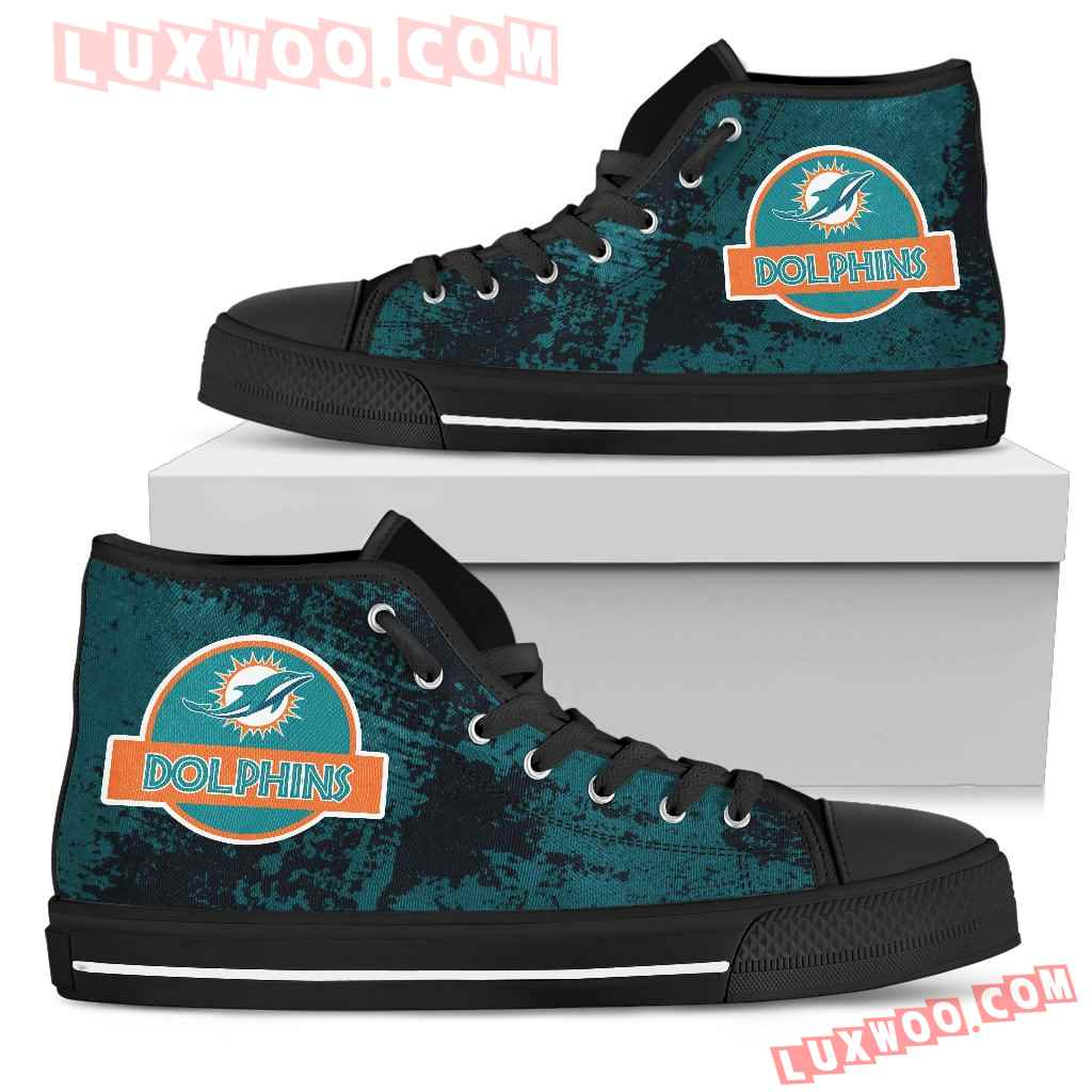 Jurassic Park Miami Dolphins High Top Shoes