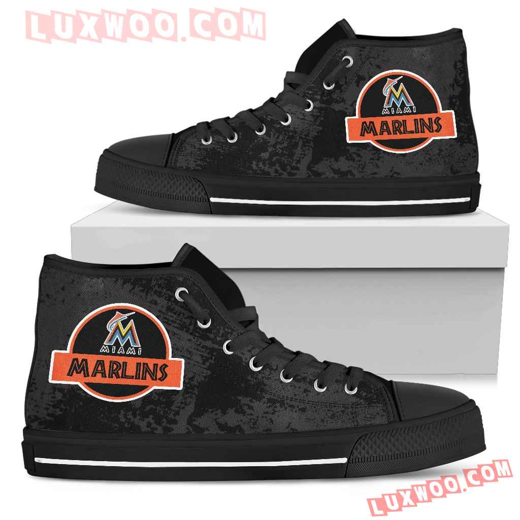Jurassic Park Miami Marlins High Top Shoes