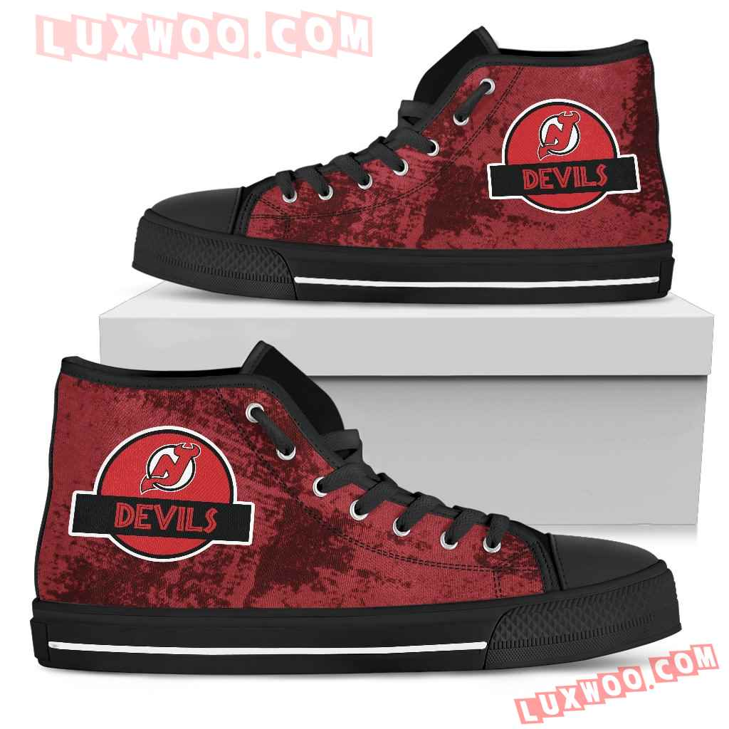 Jurassic Park New Jersey Devils High Top Shoes